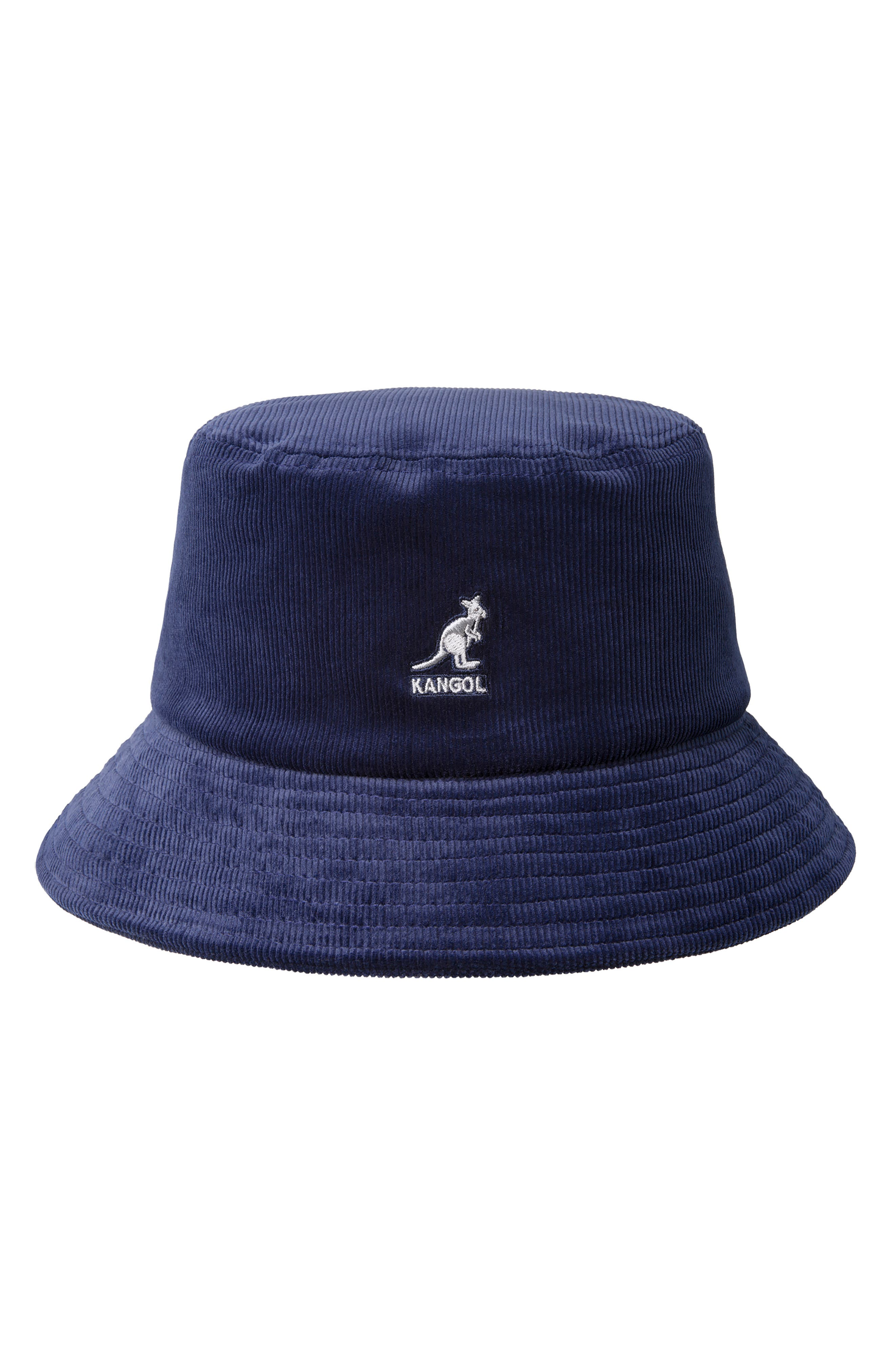 KANGOL Corduroy Bucket Hat - Blue in Navy