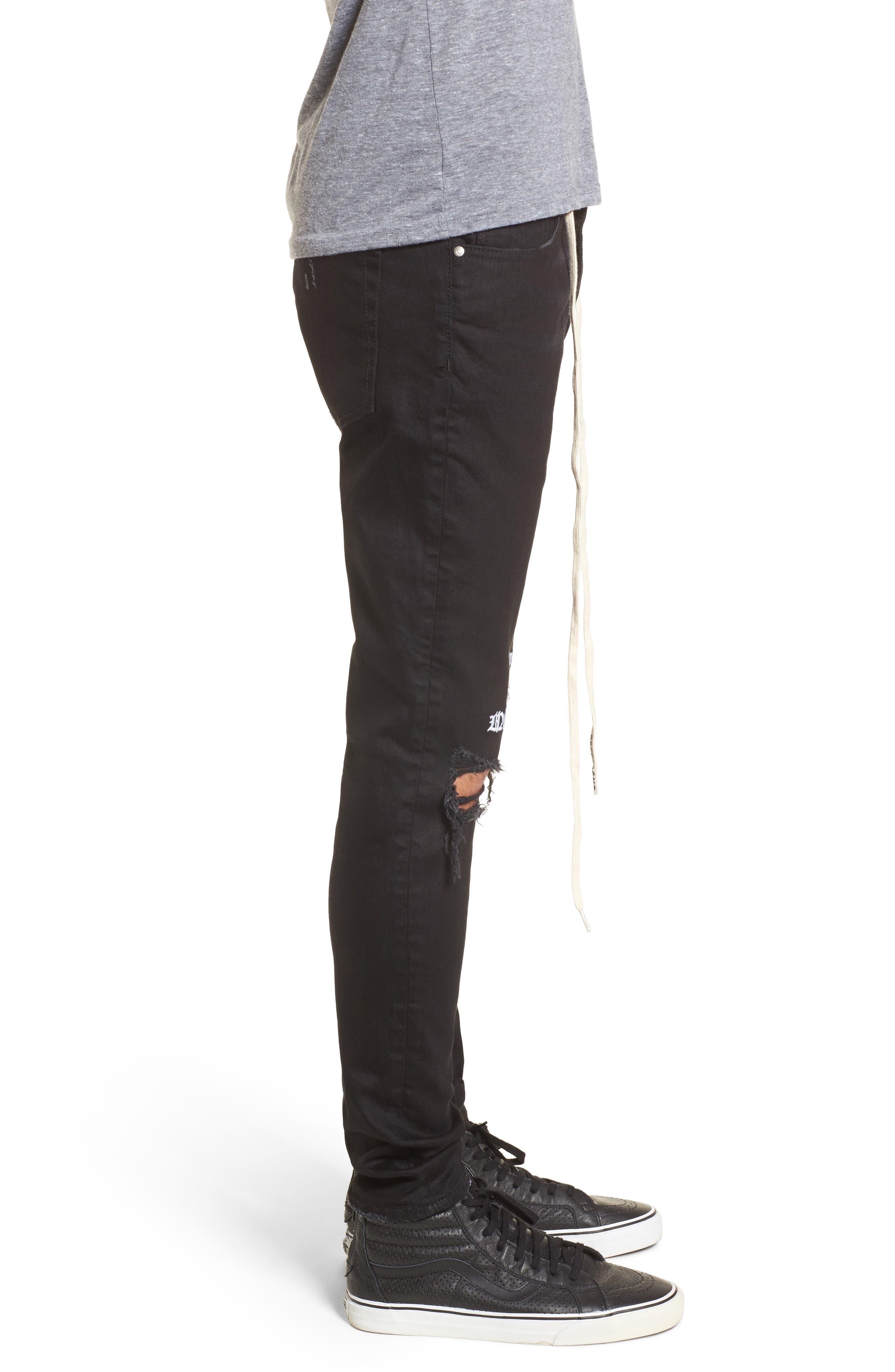 Destroyer Slim Fit Jeans,                             Alternate thumbnail 3, color,                             001