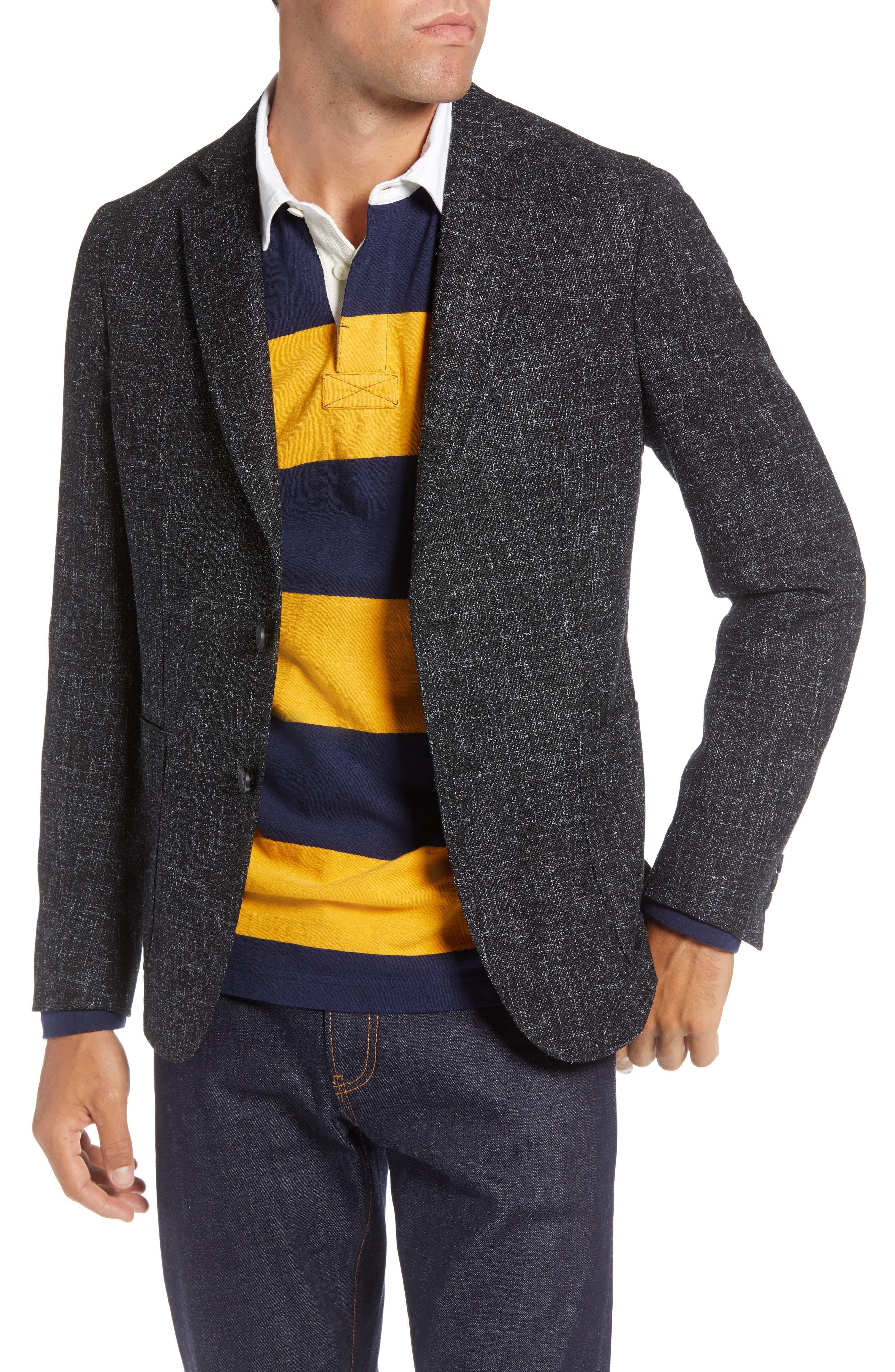 1901 Extra Trim Fit Wool Blend Sport Coat, Main, color, 001