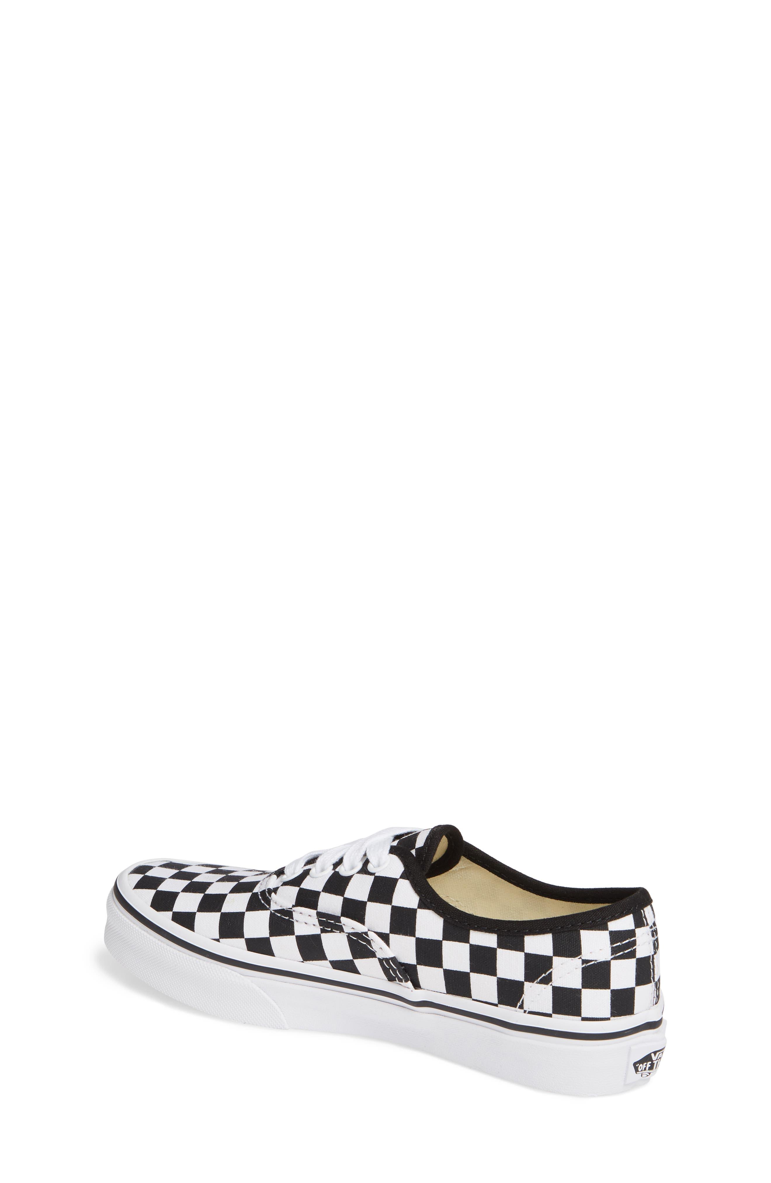 Authentic Elastic Lace Sneaker,                             Alternate thumbnail 2, color,                             BLACK/ TRUE WHITE