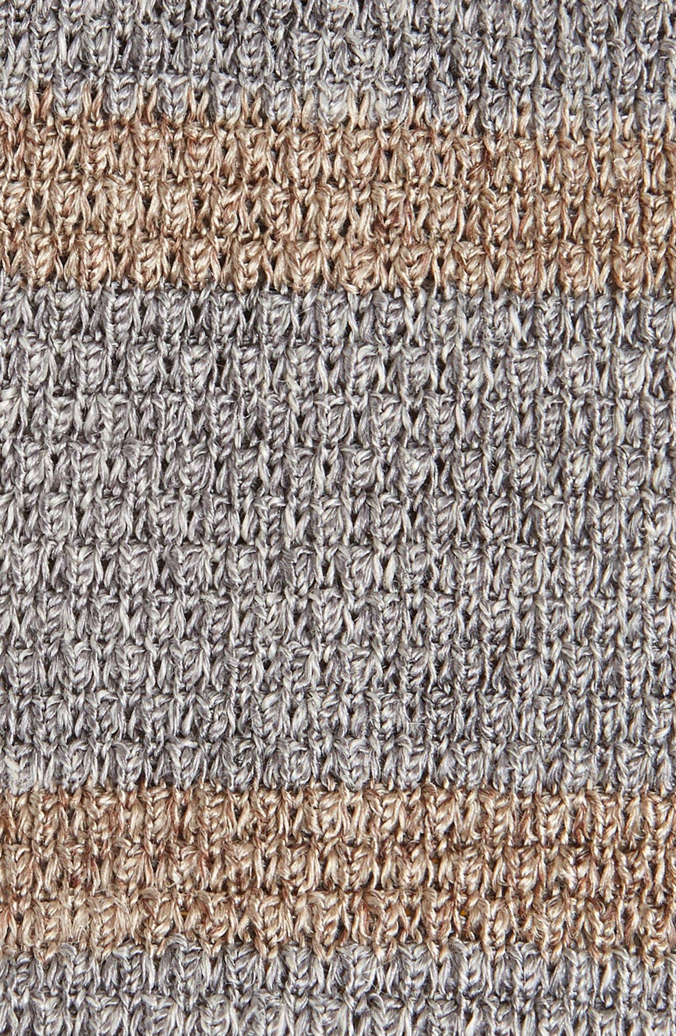 Stripe Skinny Woven Silk & Linen Tie,                             Alternate thumbnail 2, color,                             020