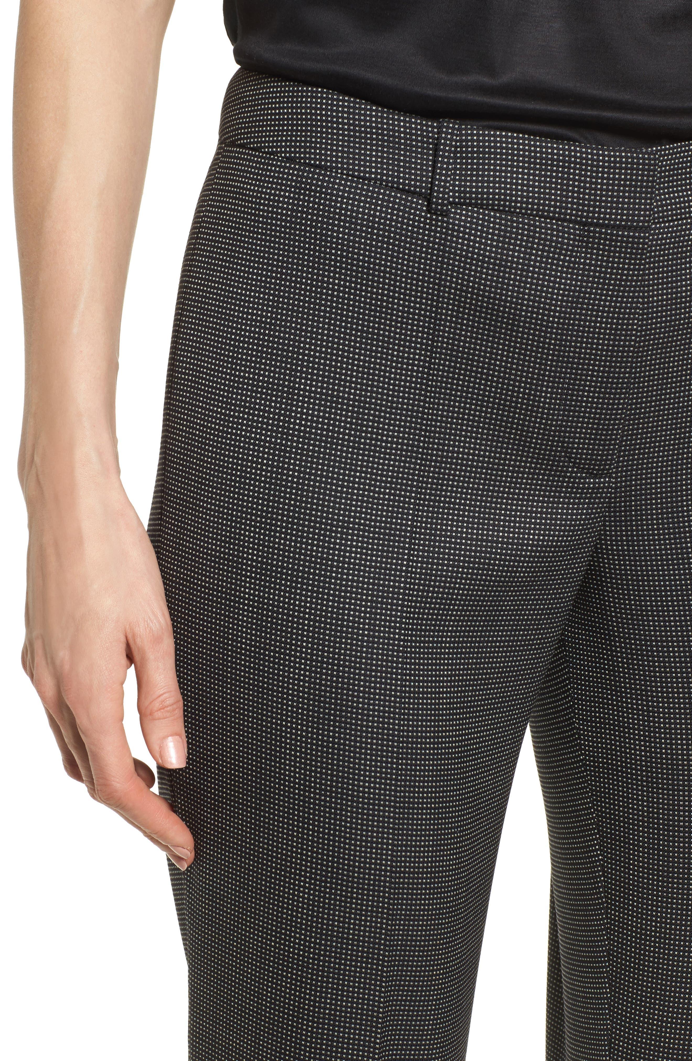 Tamea Straight Leg Stretch Wool Suit Pants,                             Alternate thumbnail 4, color,                             006