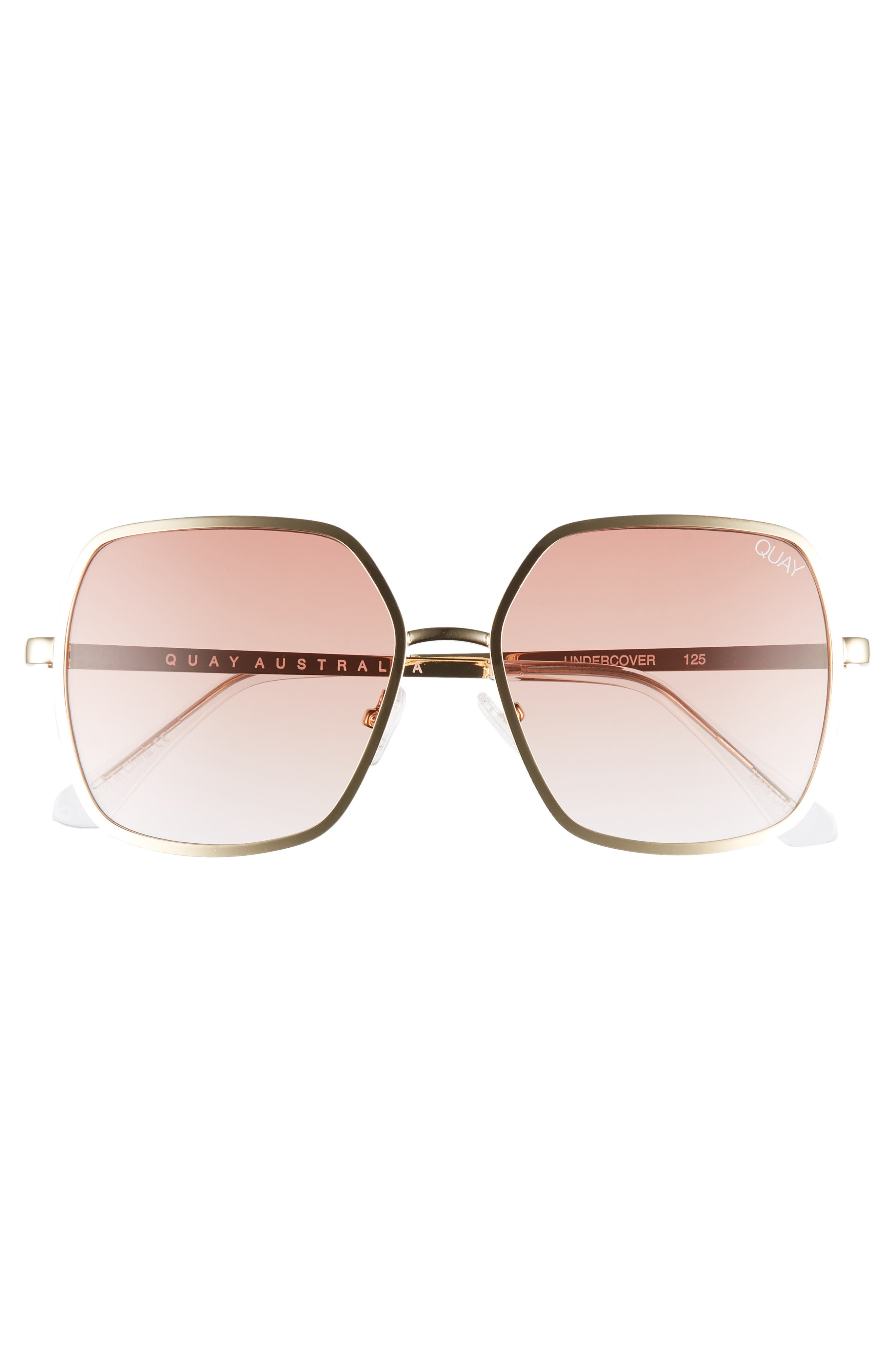 Undercover 57mm Square Sunglasses,                             Alternate thumbnail 3, color,                             GOLD/ PEACH