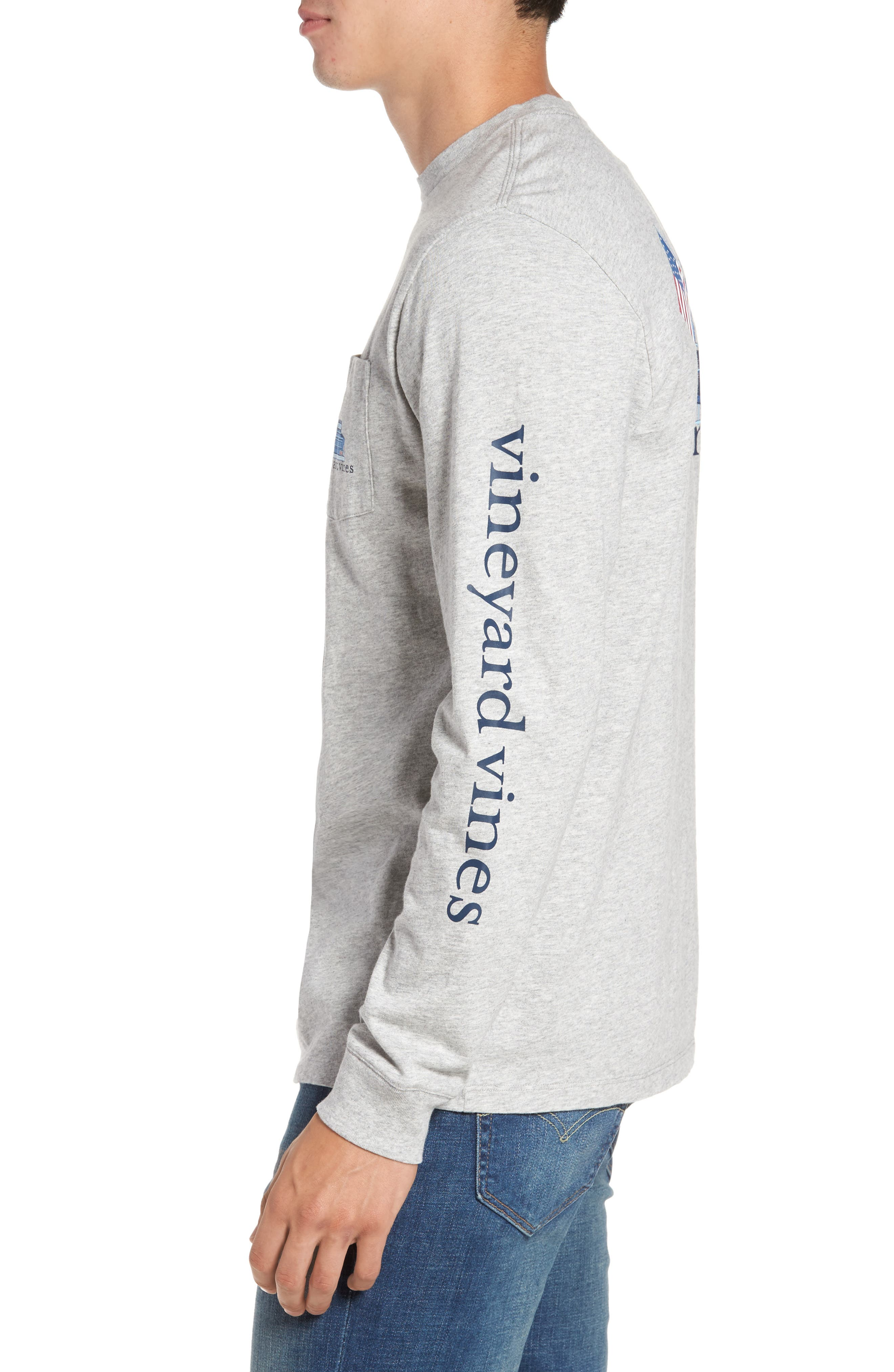 Americana Game Day Graphic Long Sleeve T-Shirt,                             Alternate thumbnail 3, color,                             039