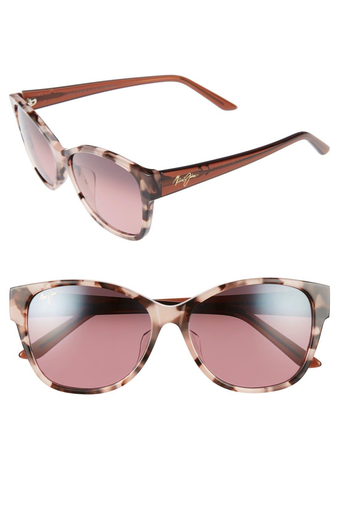 Maui Jim Summer Time 5m Polarizedplus2 Cat Eye Sunglasses - Pink Tokyo Tortoise/ Rose
