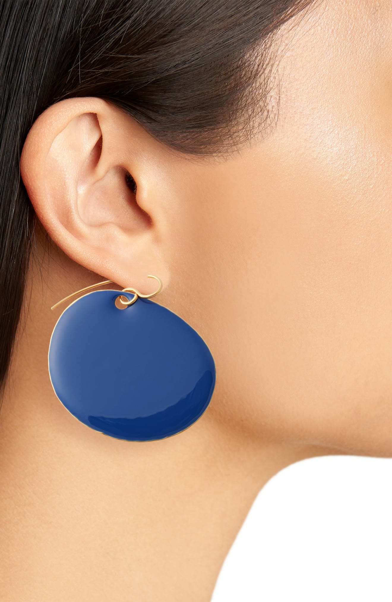 Flat Disc Earrings,                             Alternate thumbnail 7, color,