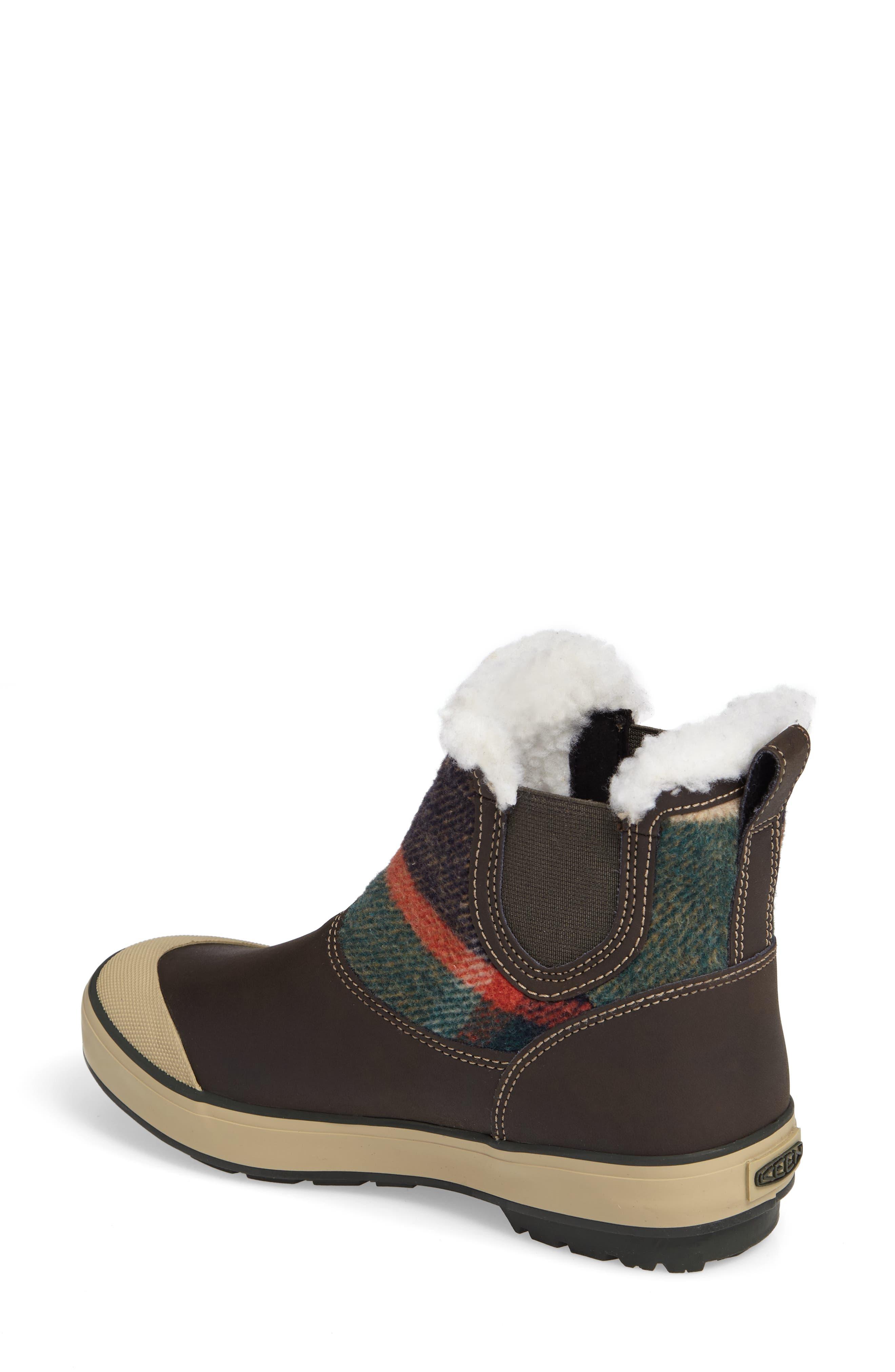 Elsa Chelsea Waterproof Faux Fur Lined Boot,                             Alternate thumbnail 8, color,