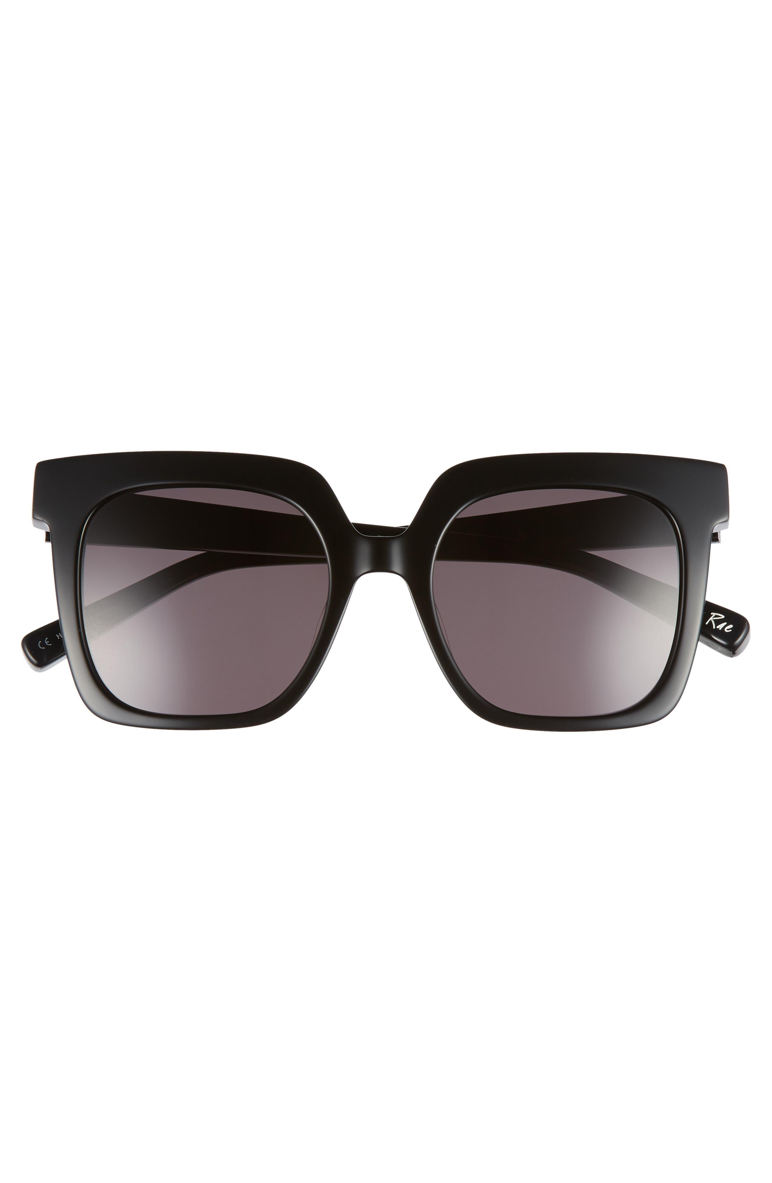 Rae 51mm Square Sunglasses,                             Alternate thumbnail 3, color,                             001