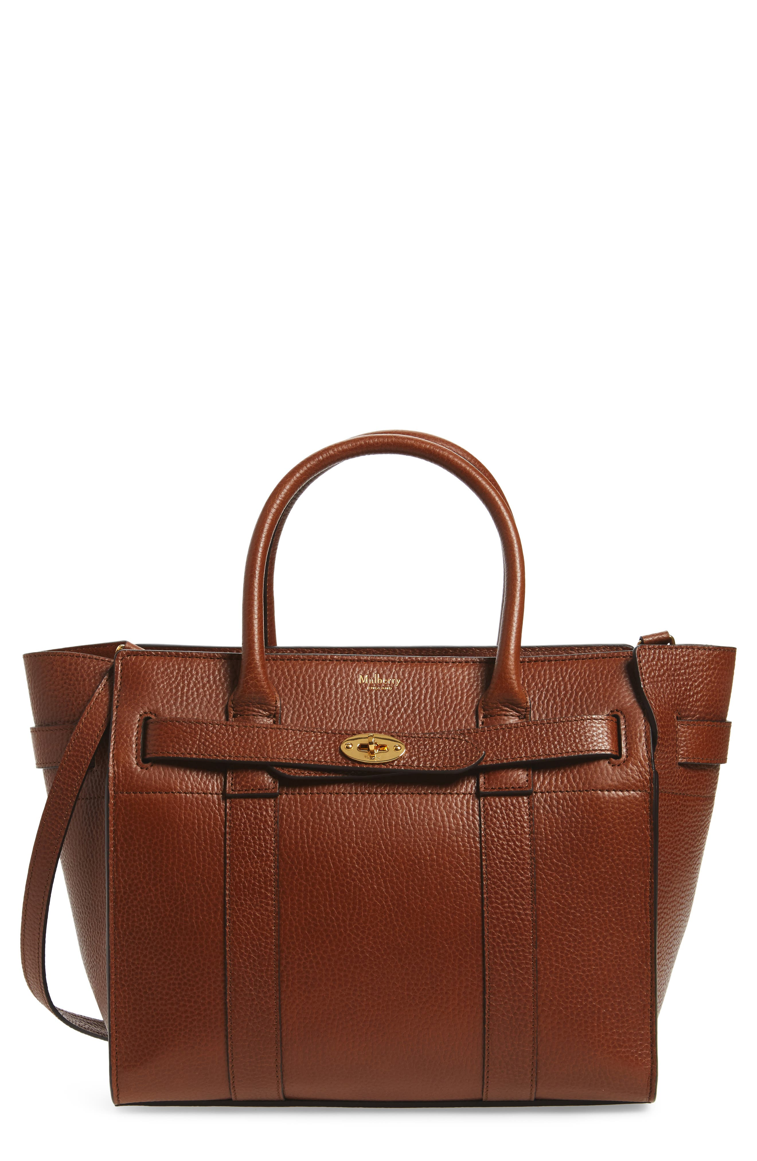 Small Bayswater Leather Satchel, Main, color, 201