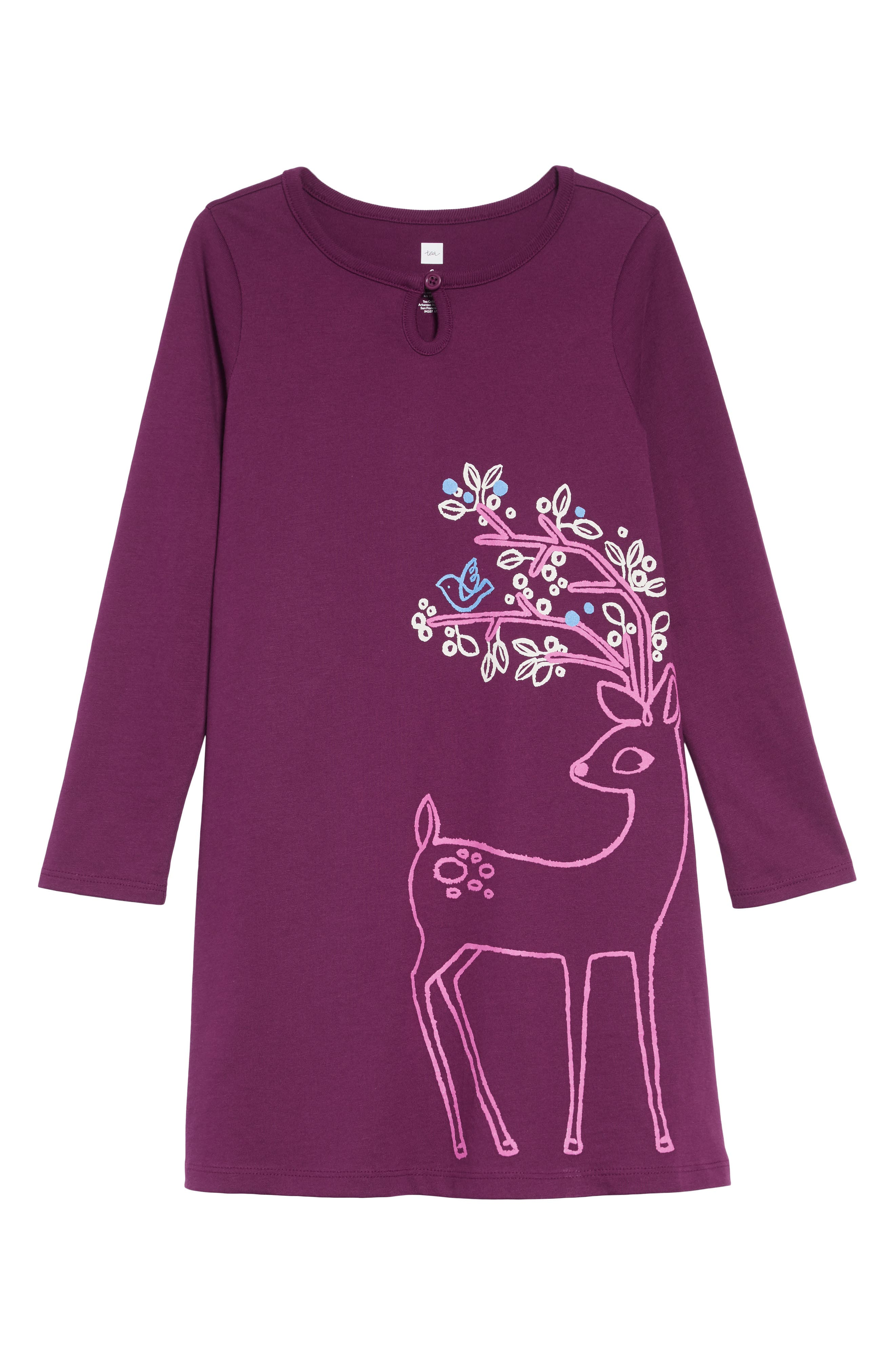 Dainty Doe Dress,                         Main,                         color, COSMIC BERRY