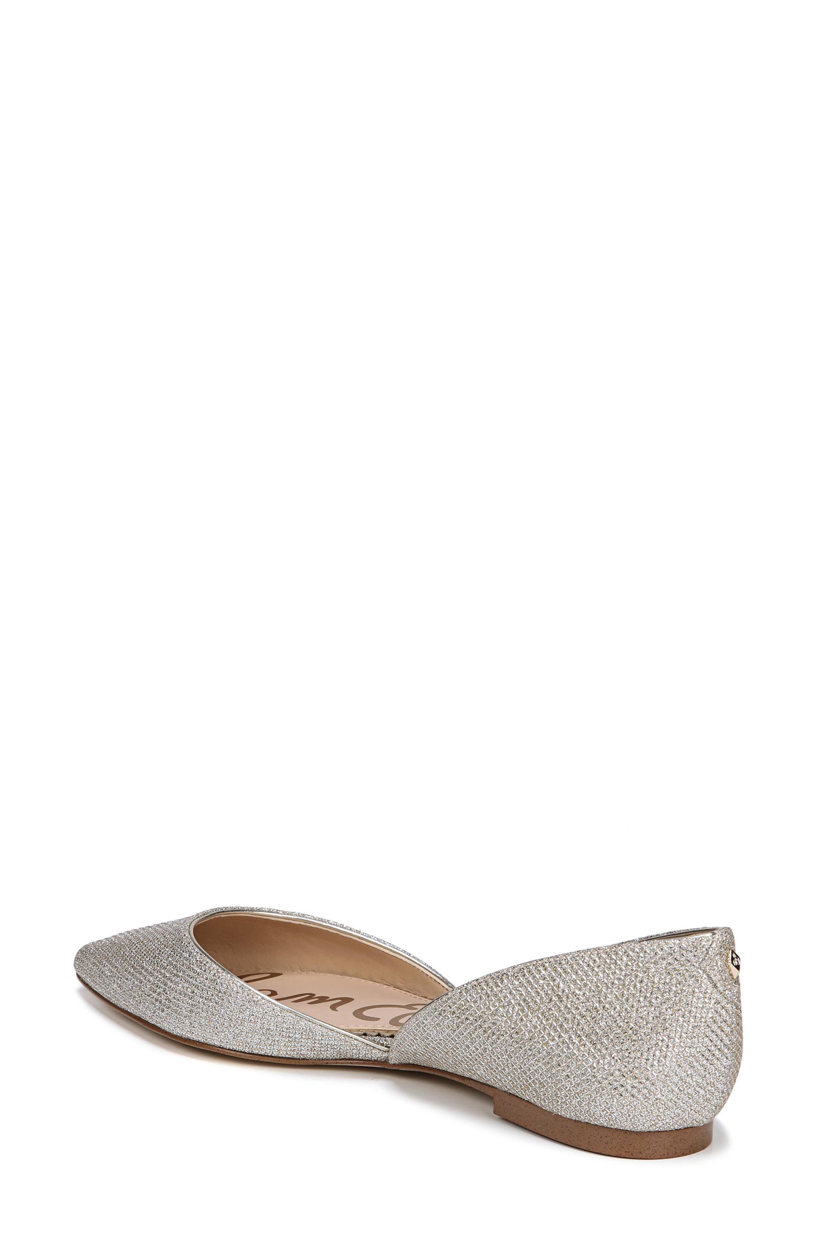 Rodney Pointy Toe d'Orsay Flat,                             Alternate thumbnail 2, color,                             JUTE GLAM FABRIC