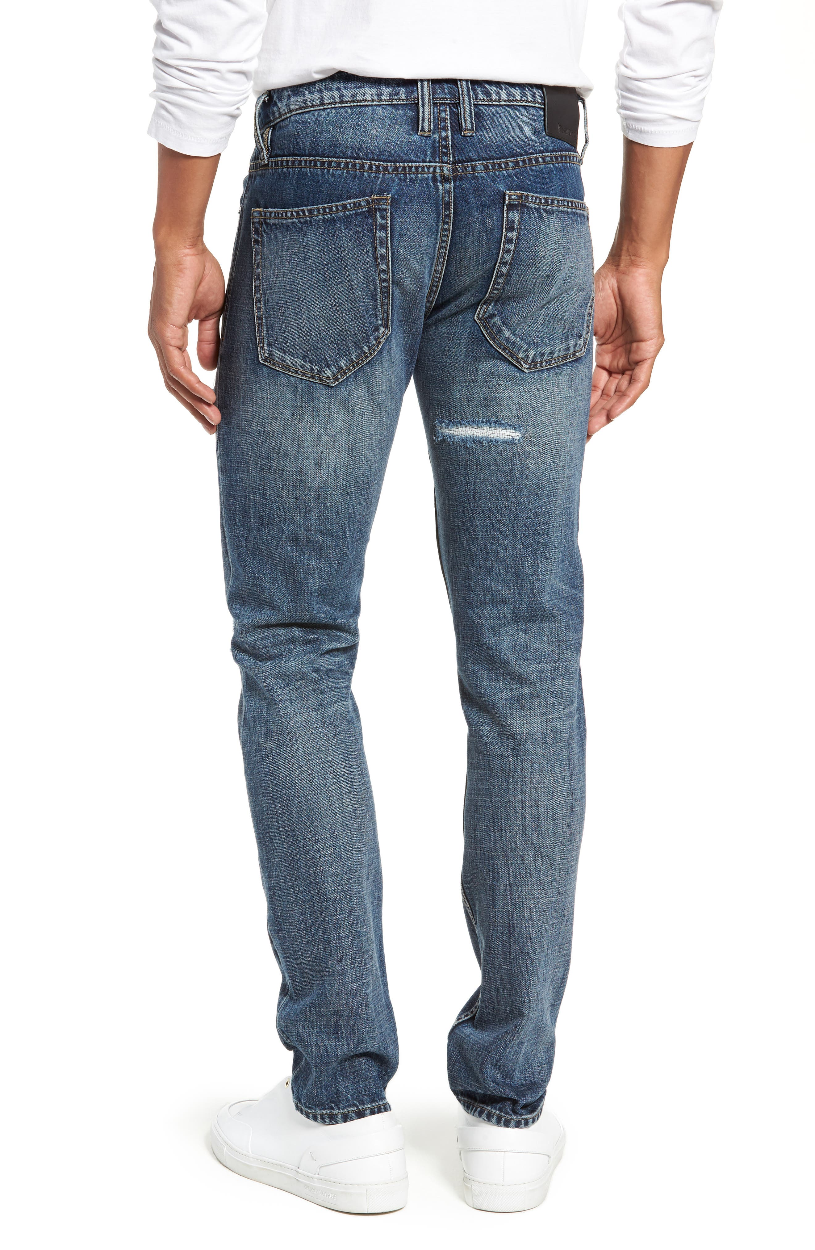 Wooster Slim Fit Distressed Selvedge Jeans,                             Alternate thumbnail 2, color,                             PERMISSIBLE HOT
