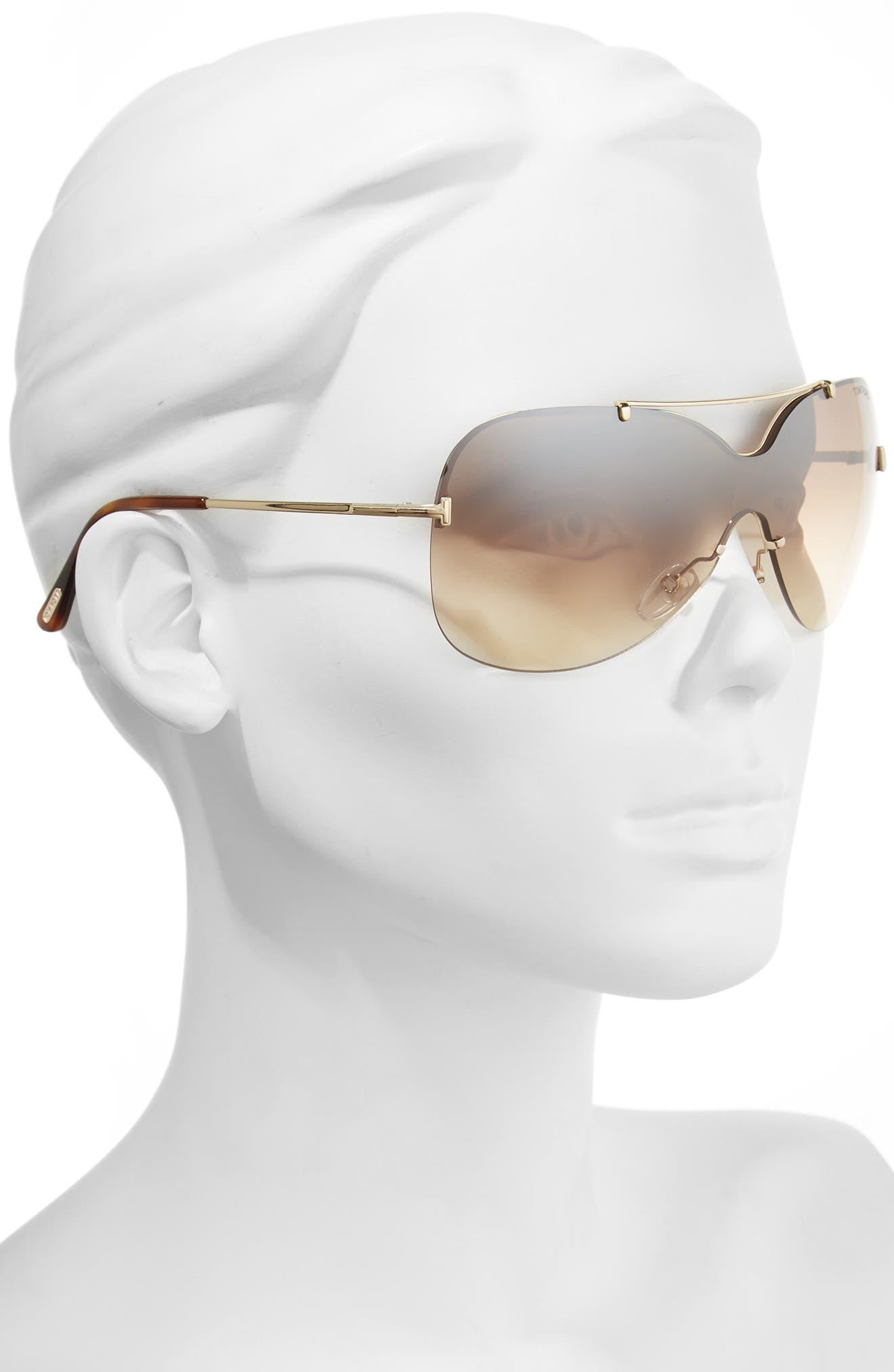 Ondria Gradient Lens Shield Sunglasses,                             Alternate thumbnail 5, color,