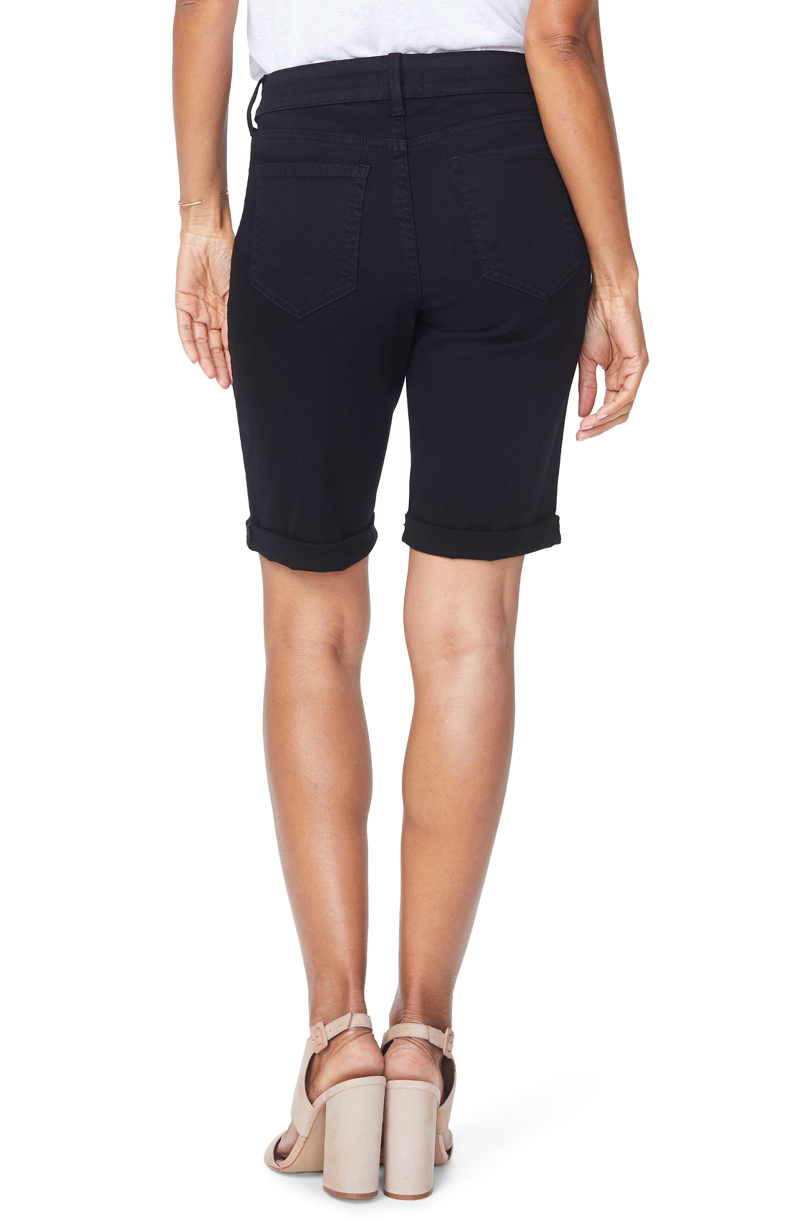 Briella Roll Cuff Bermuda Shorts,                             Alternate thumbnail 2, color,                             001
