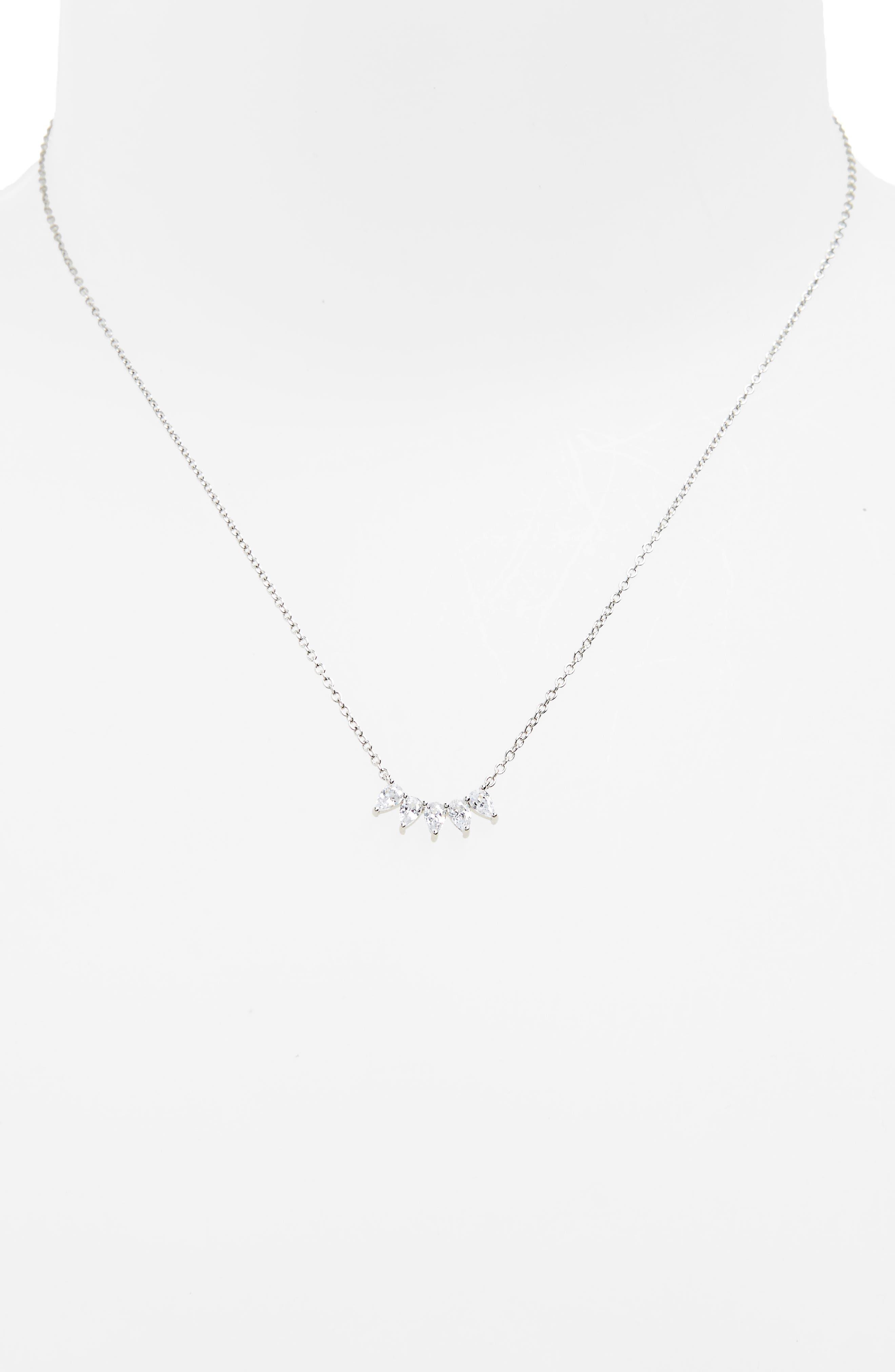 Marquise Cubic Zirconia Pendant Necklace,                             Alternate thumbnail 2, color,                             040