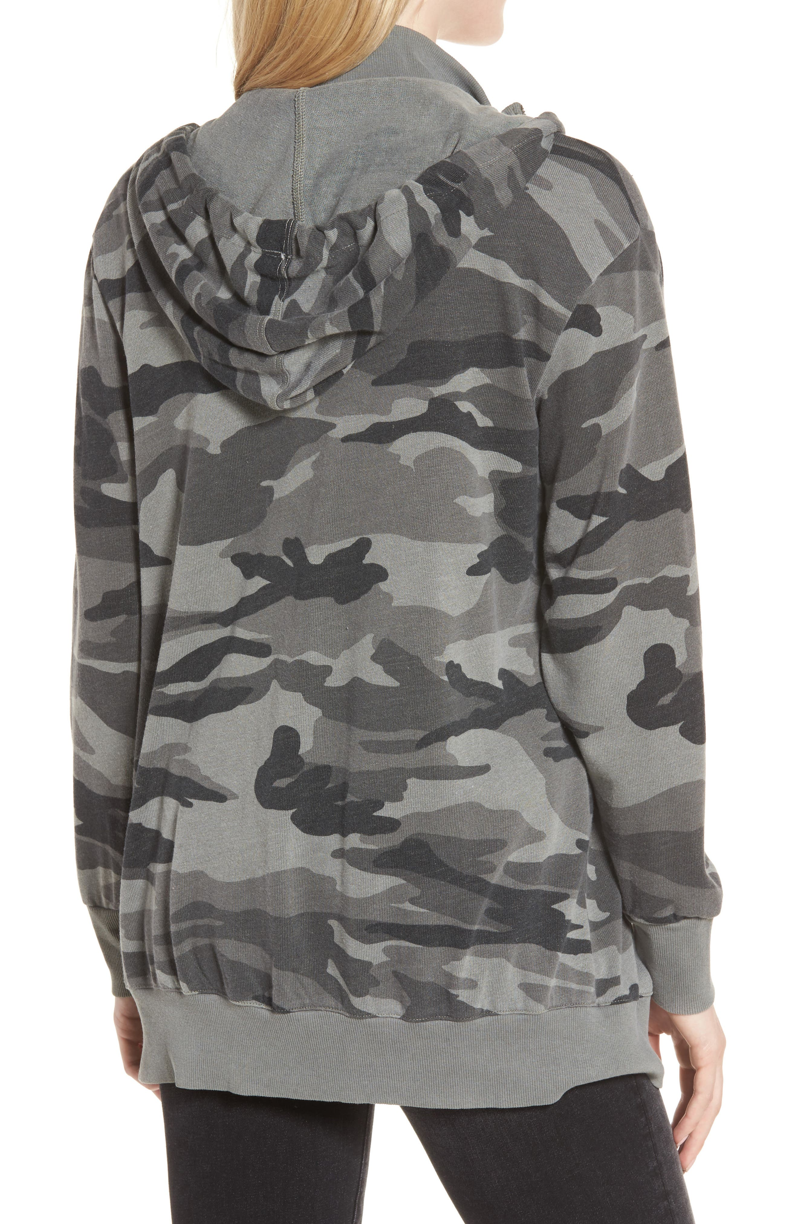 French Terry Camo Sweatshirt,                             Alternate thumbnail 2, color,                             301