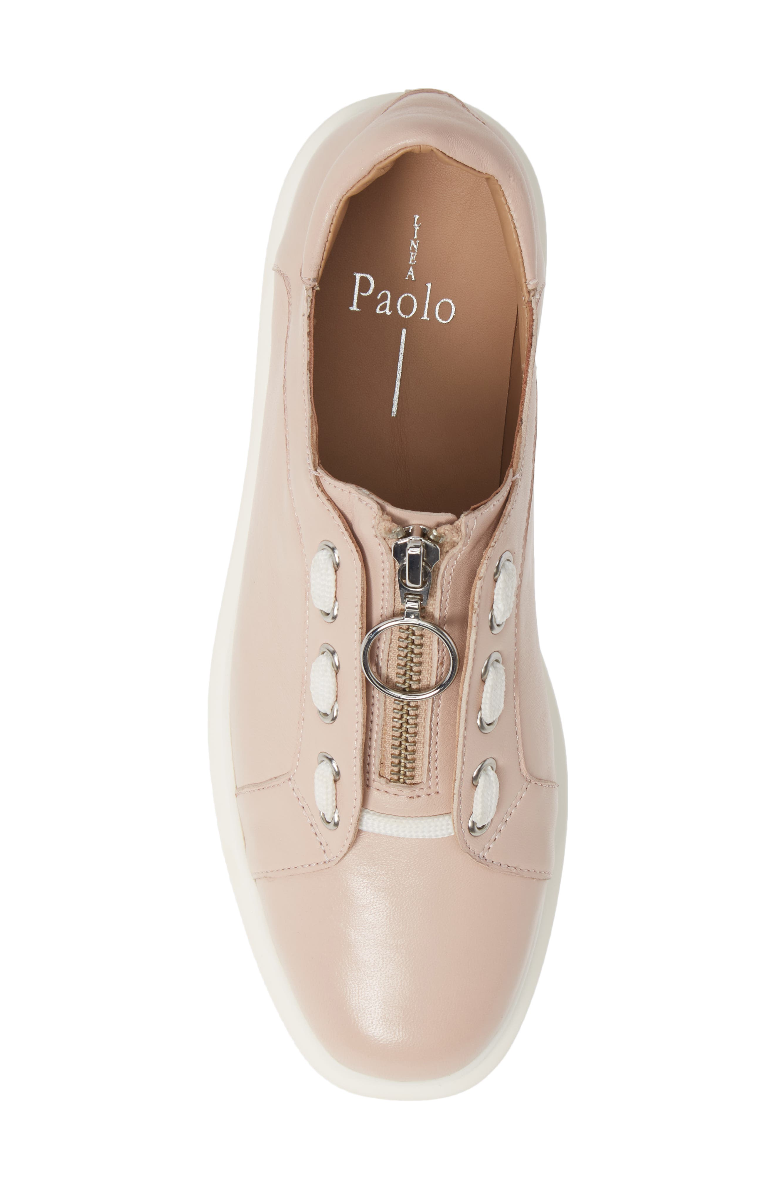 LINEA PAOLO,                             Killian Platform Sneaker,                             Alternate thumbnail 5, color,                             BLUSH LEATHER