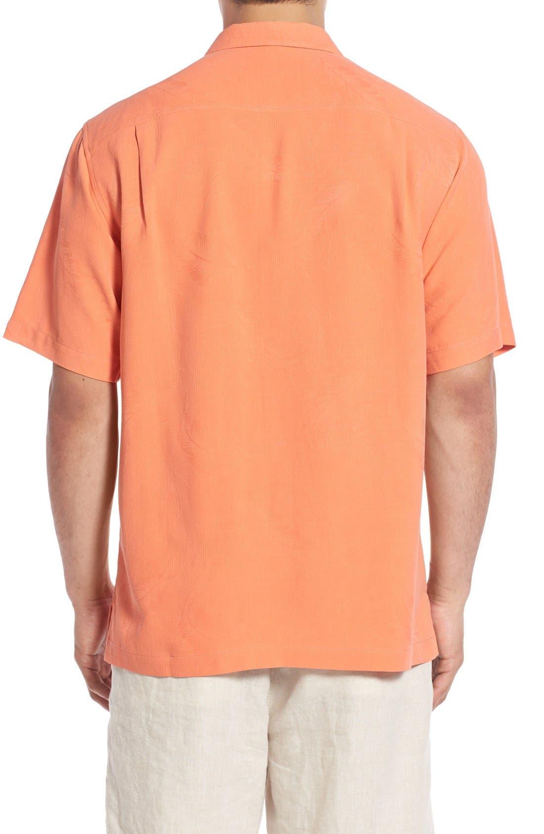 Rio Fronds Short Sleeve Silk Sport Shirt,                             Alternate thumbnail 33, color,