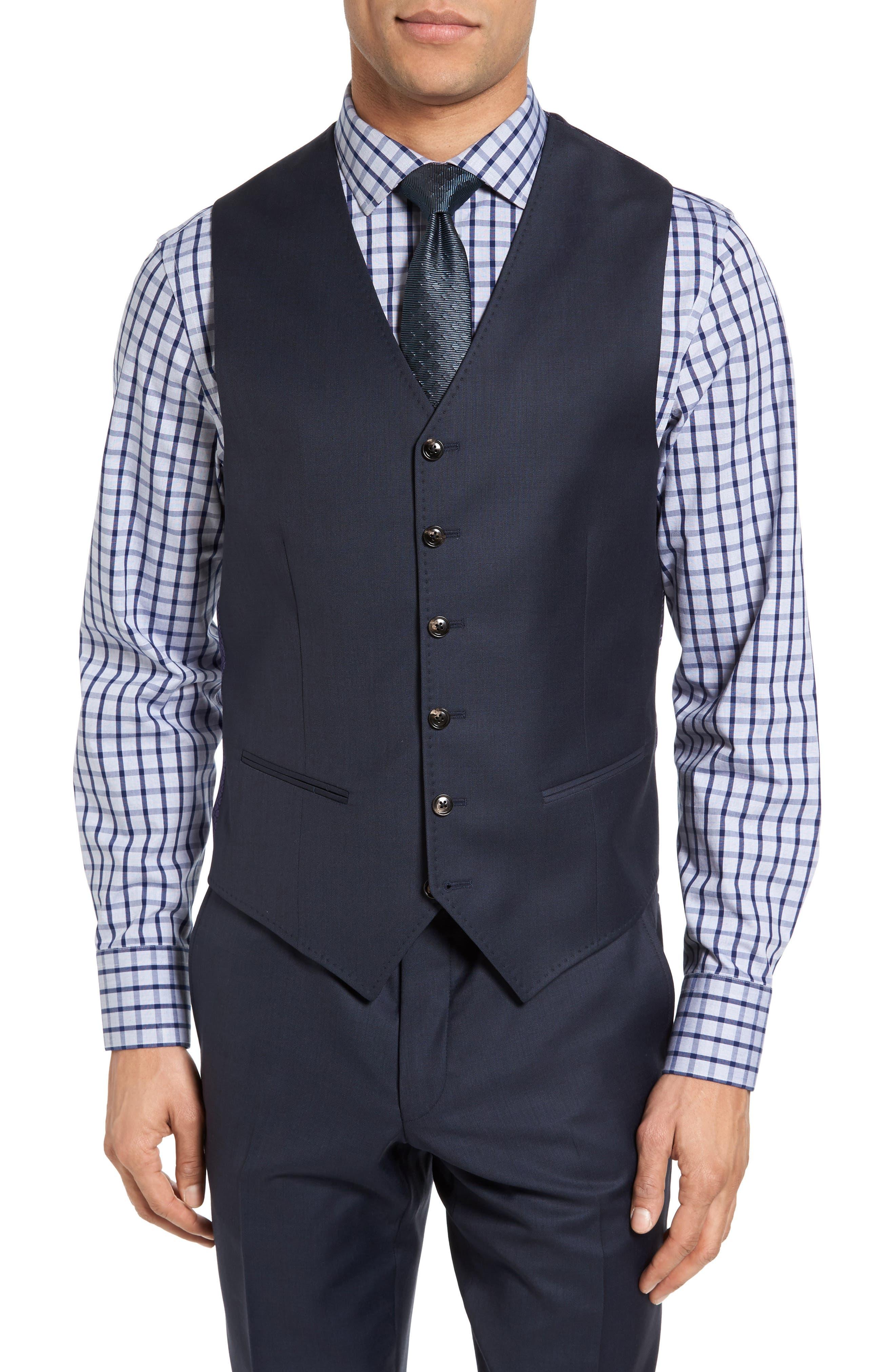Jones Trim Fit Wool Vest,                             Main thumbnail 5, color,