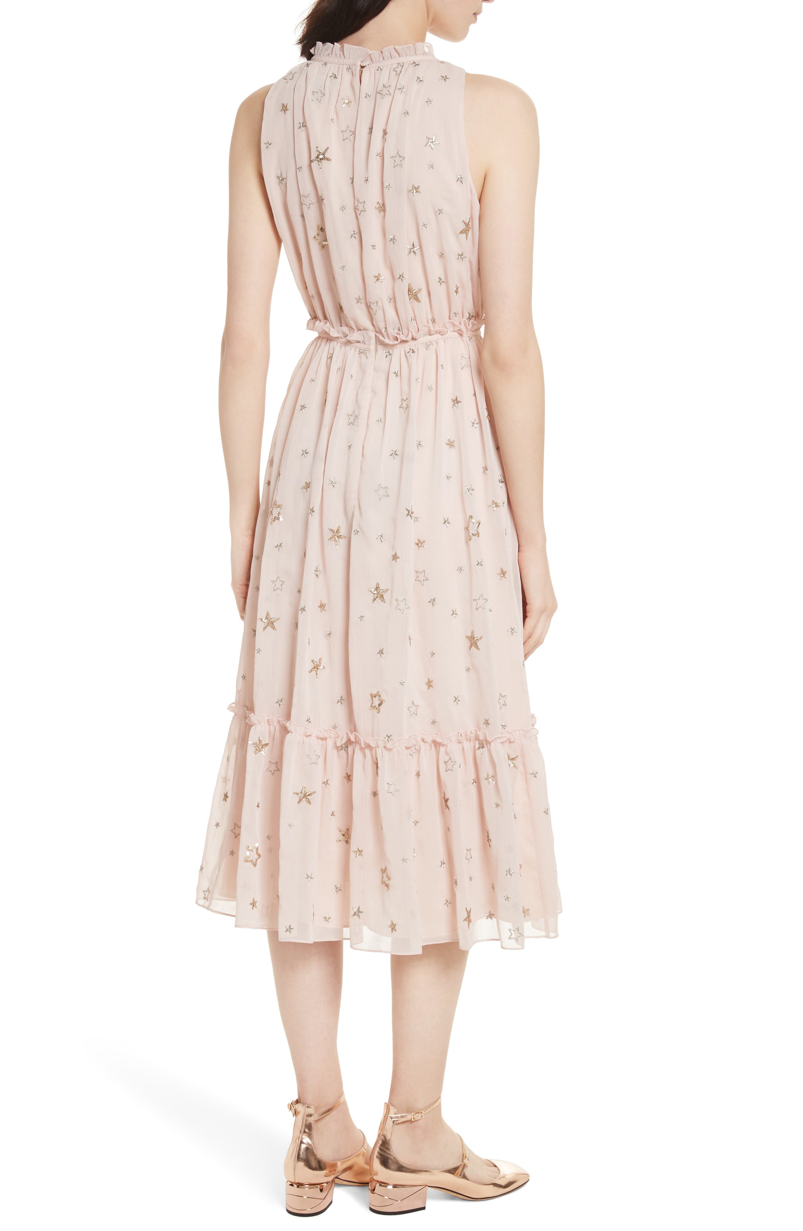 amada embellished midi dress,                             Alternate thumbnail 2, color,