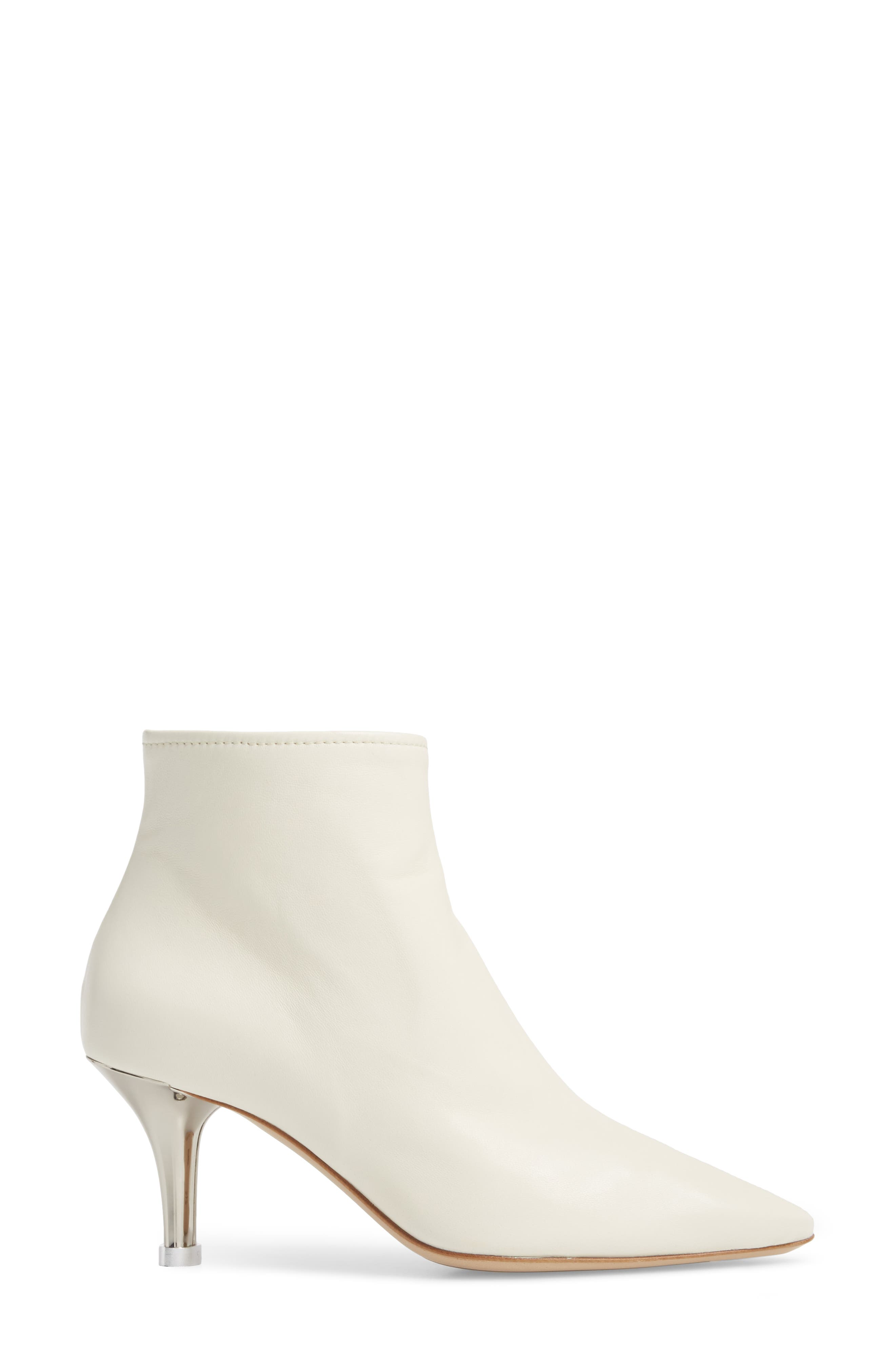 Summer Bootie,                             Alternate thumbnail 3, color,                             OFF WHITE LEATHER