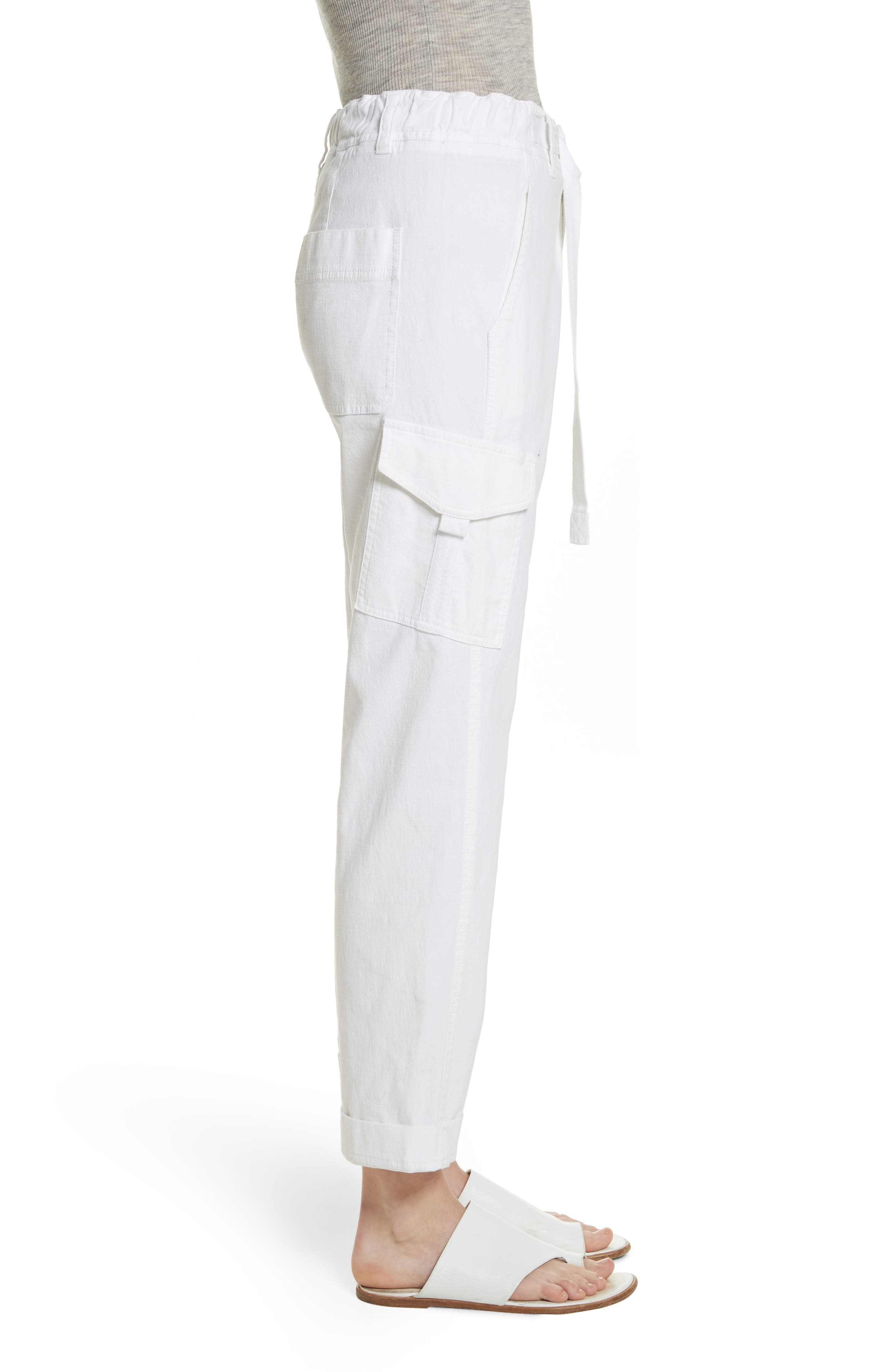 Tapered Utility Stretch Cotton Pants,                             Alternate thumbnail 3, color,                             137
