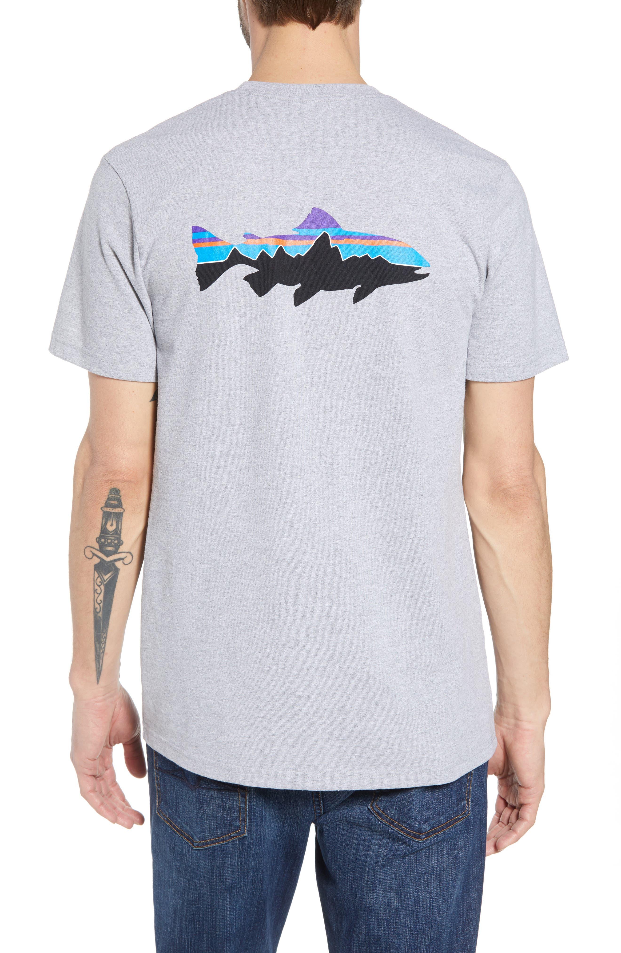 Fitz Roy Trout Crewneck T-Shirt,                             Alternate thumbnail 2, color,                             DRIFTER GREY