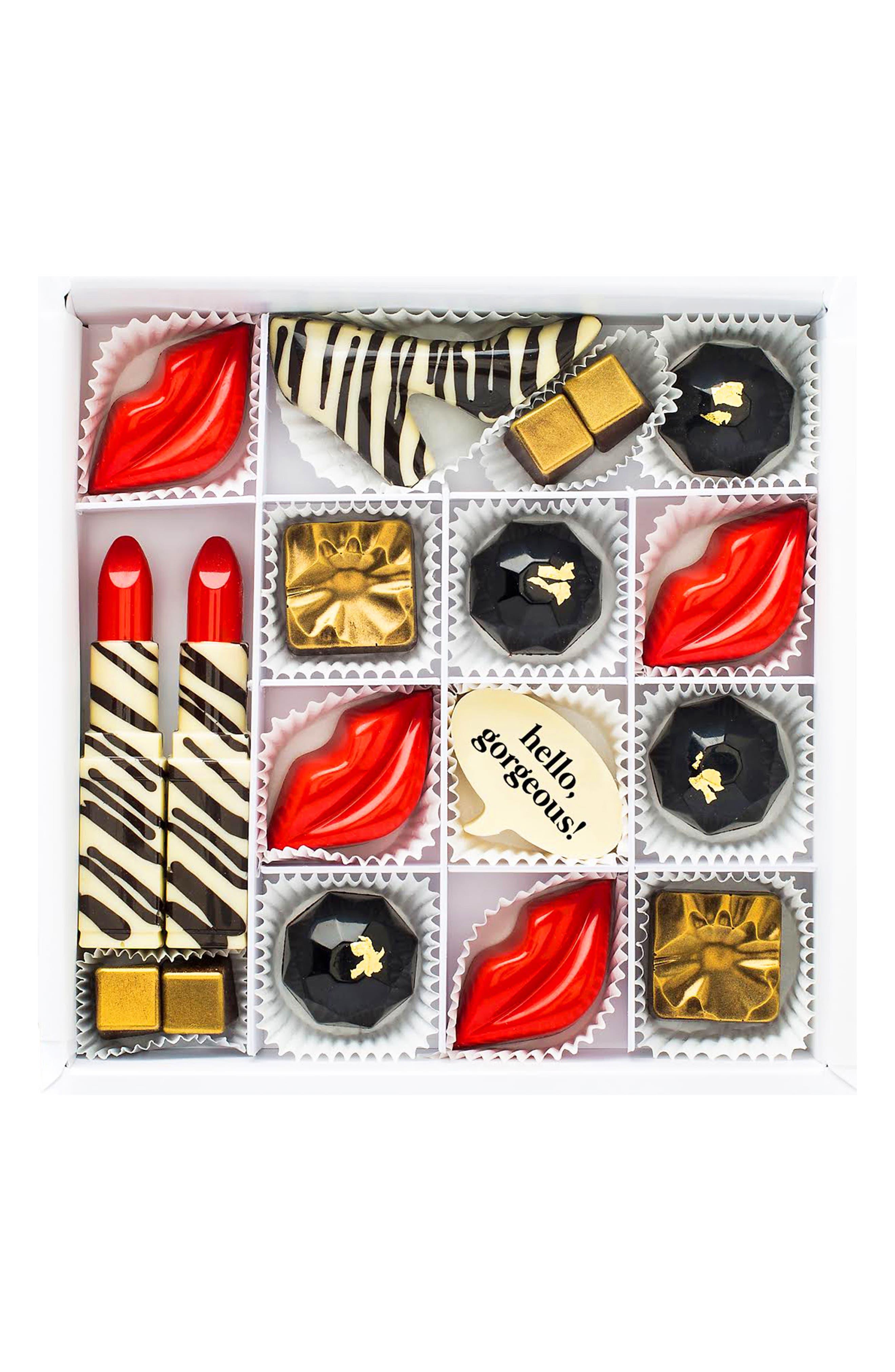 Hello, Gorgeous 16-Piece Chocolate Set,                             Main thumbnail 1, color,                             WHITE