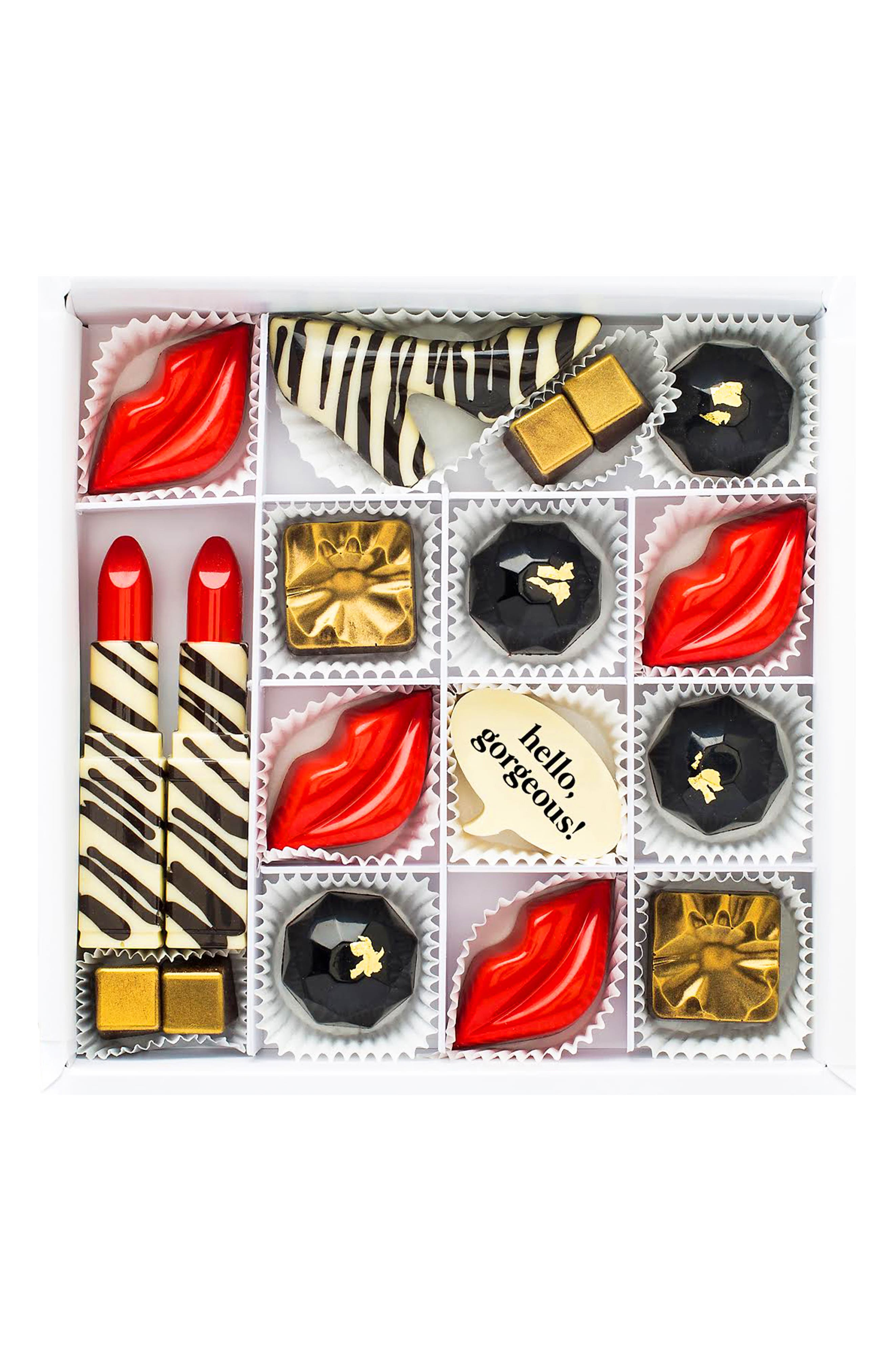 Hello, Gorgeous 16-Piece Chocolate Set,                         Main,                         color, WHITE
