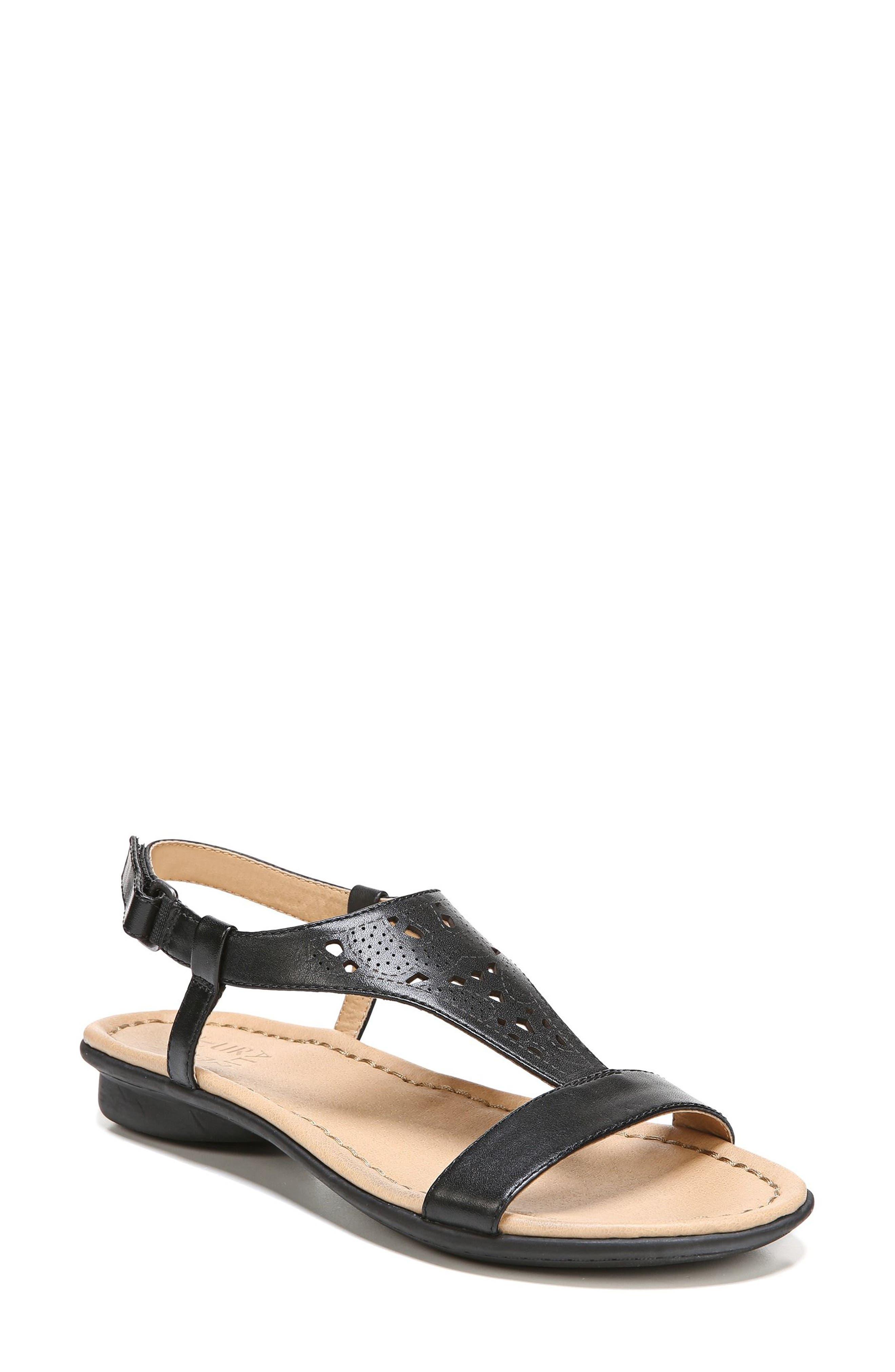 Windham Sandal,                         Main,                         color, BLACK LEATHER
