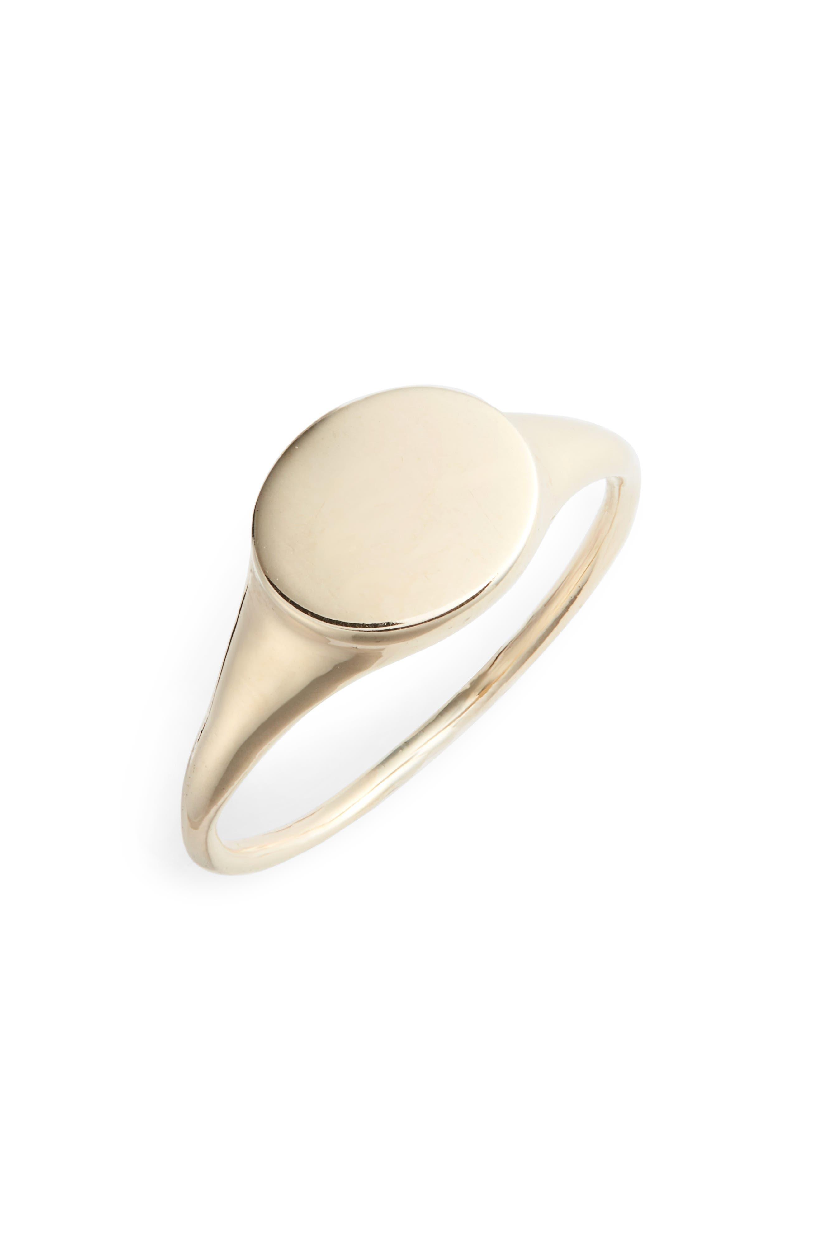 Flat Oval Ring,                             Main thumbnail 1, color,                             GOLD