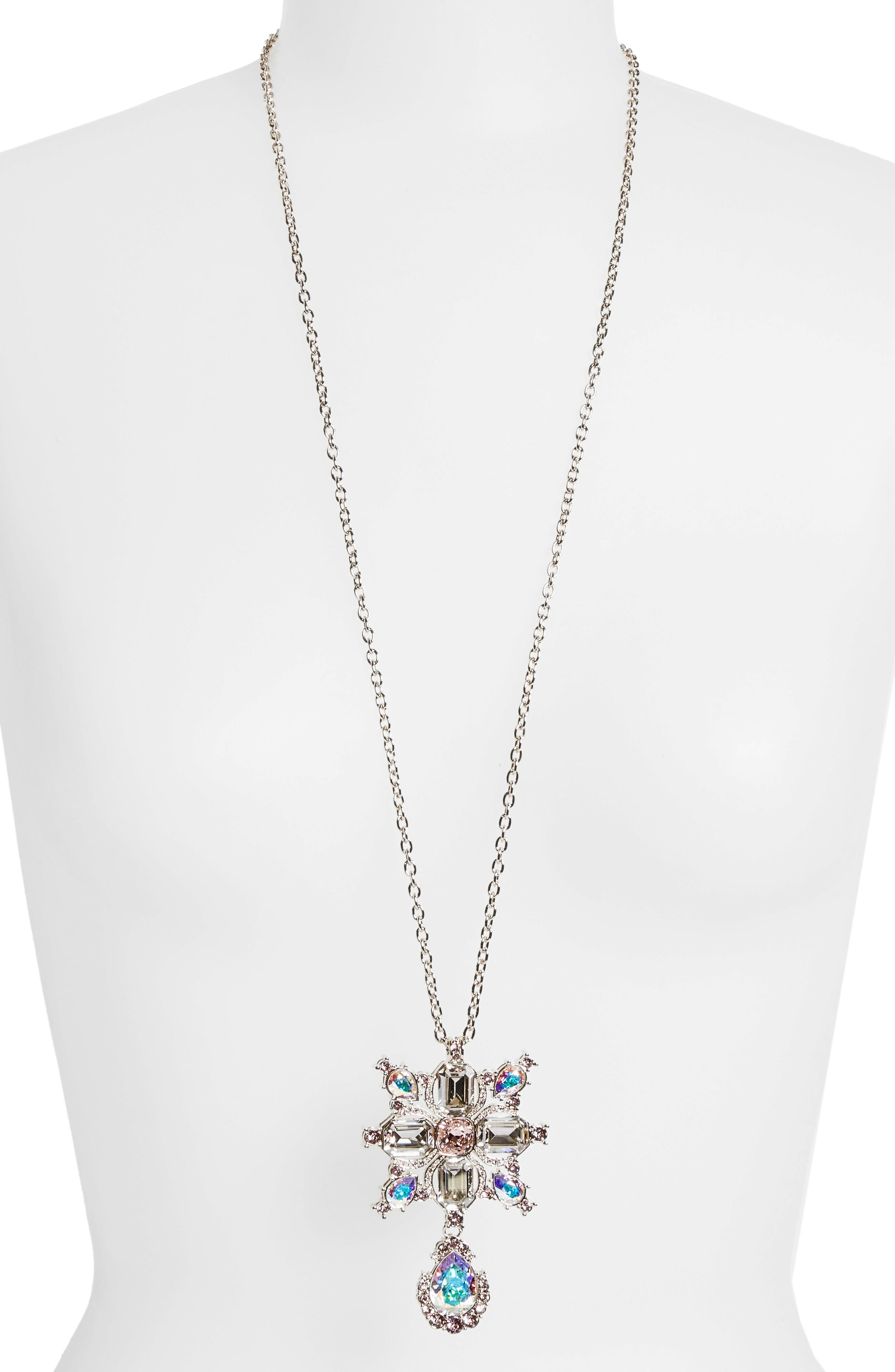 Swarovski Crystal Pendant Necklace,                             Alternate thumbnail 2, color,                             710