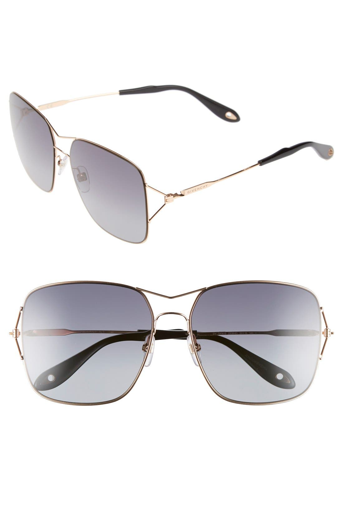 58mm Sunglasses,                             Main thumbnail 3, color,