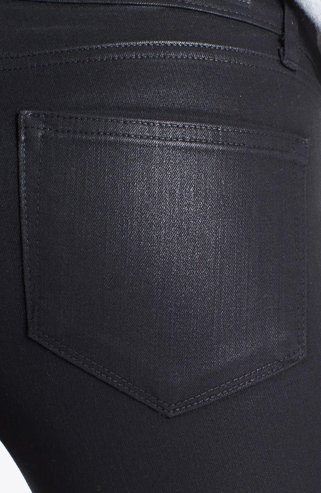 Denim 'Verdugo' Ankle Coated Skinny Jeans,                             Alternate thumbnail 3, color,                             001