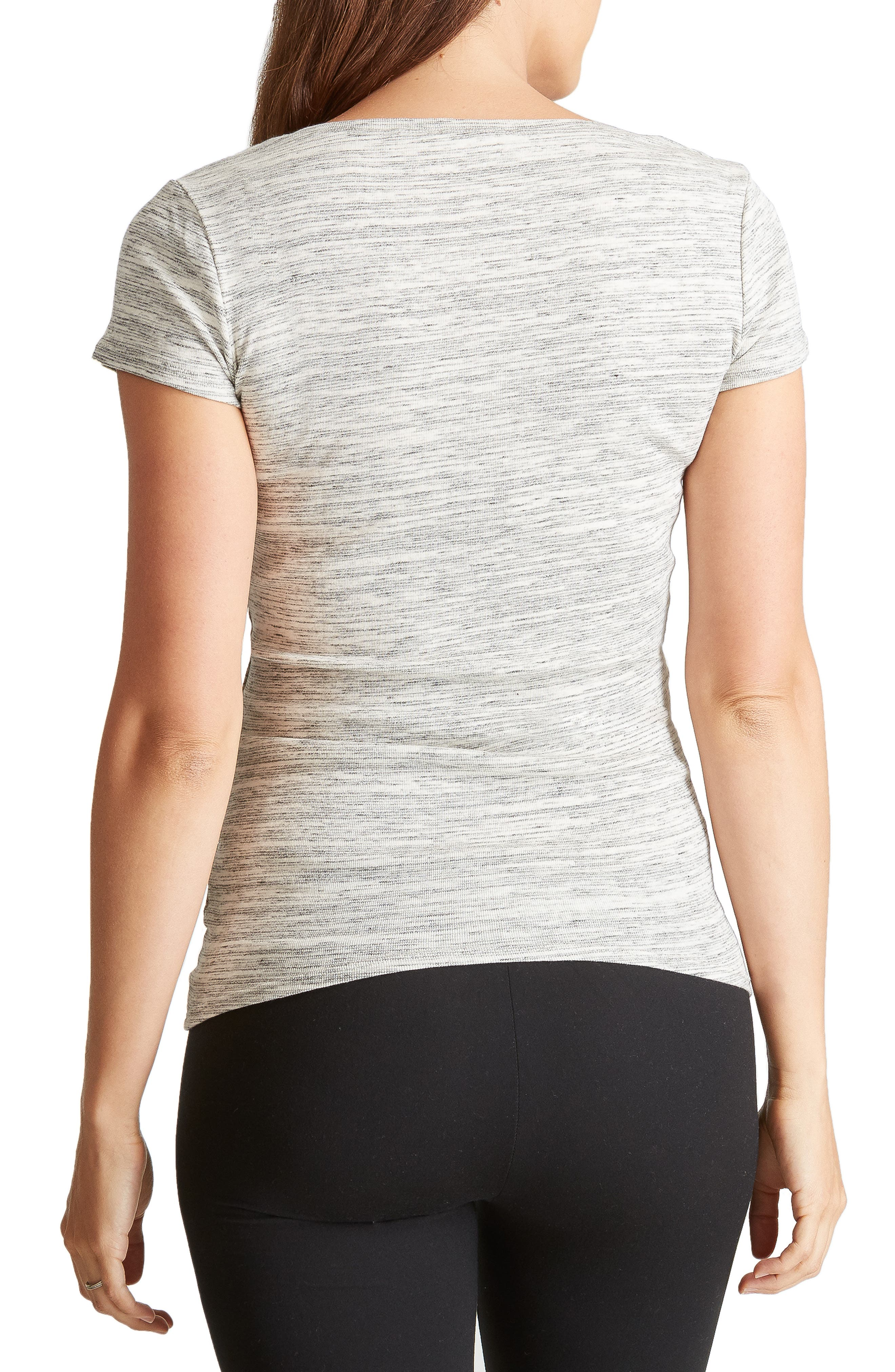 Ingrid & Isabel V-Neck Maternity Tee,                             Alternate thumbnail 2, color,                             060