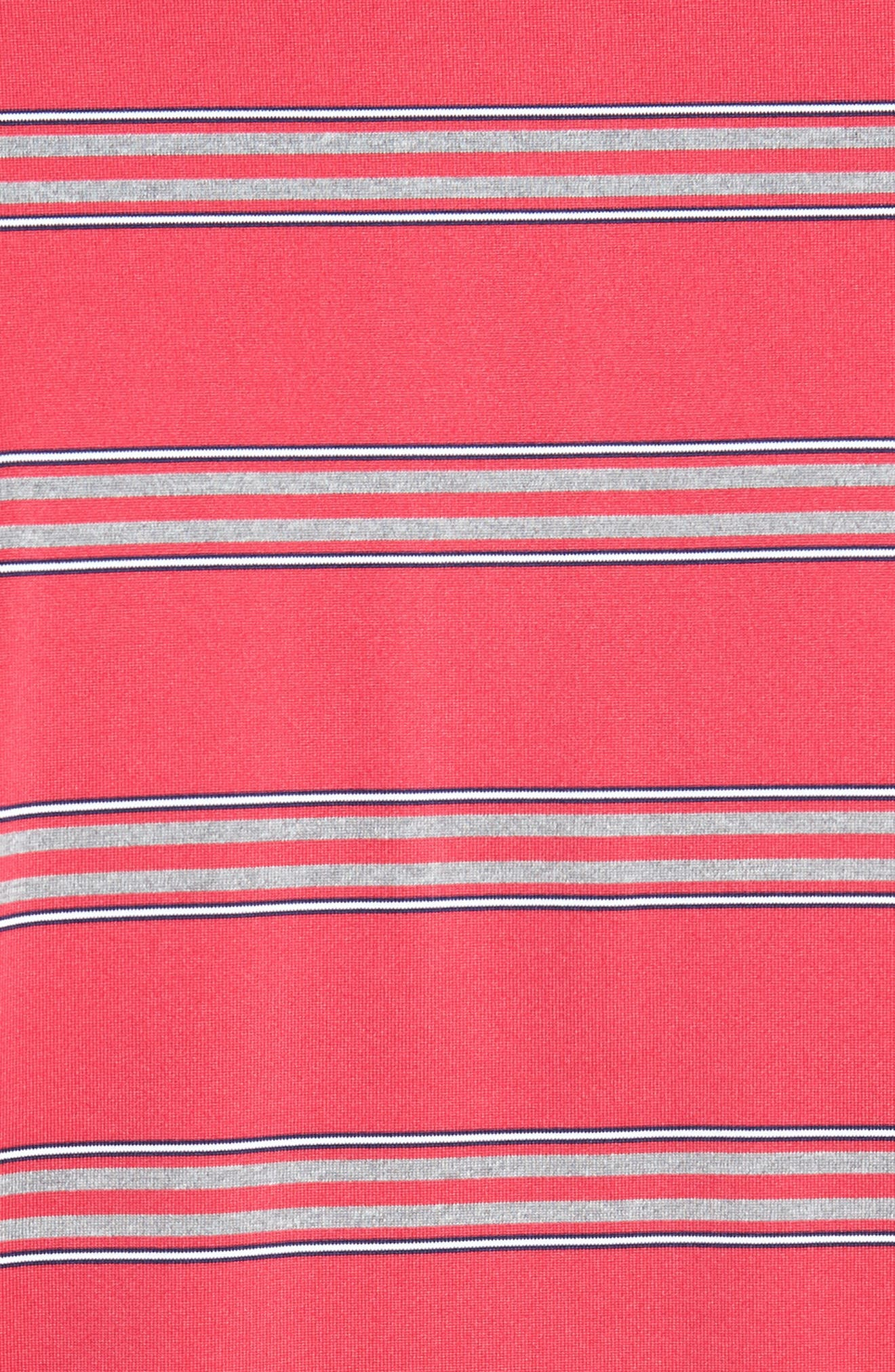 XH2O Wren Heather Stripe Polo,                             Alternate thumbnail 15, color,