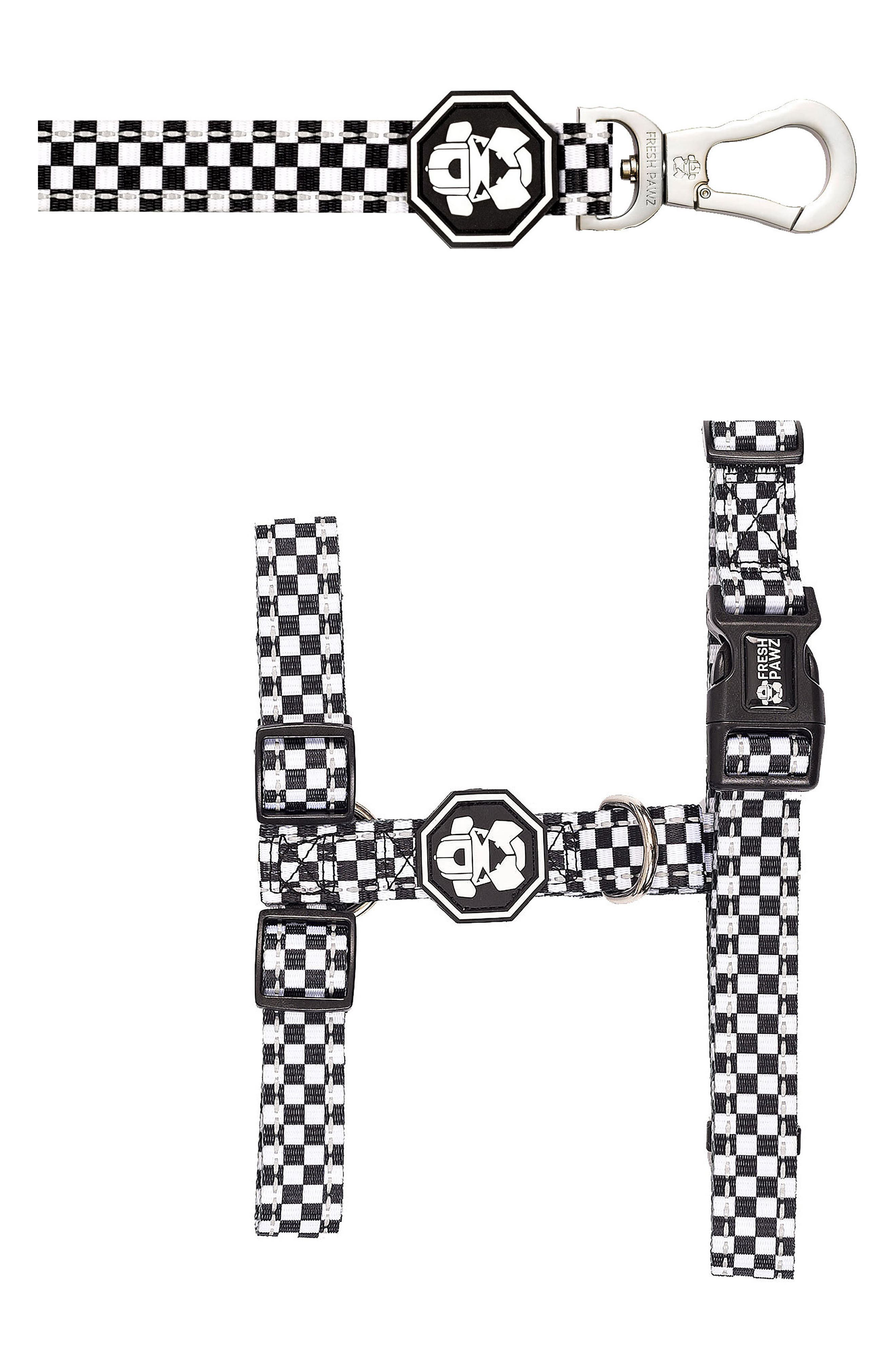 H-Harness and Leash,                             Main thumbnail 1, color,                             THE CHECKERBOARD