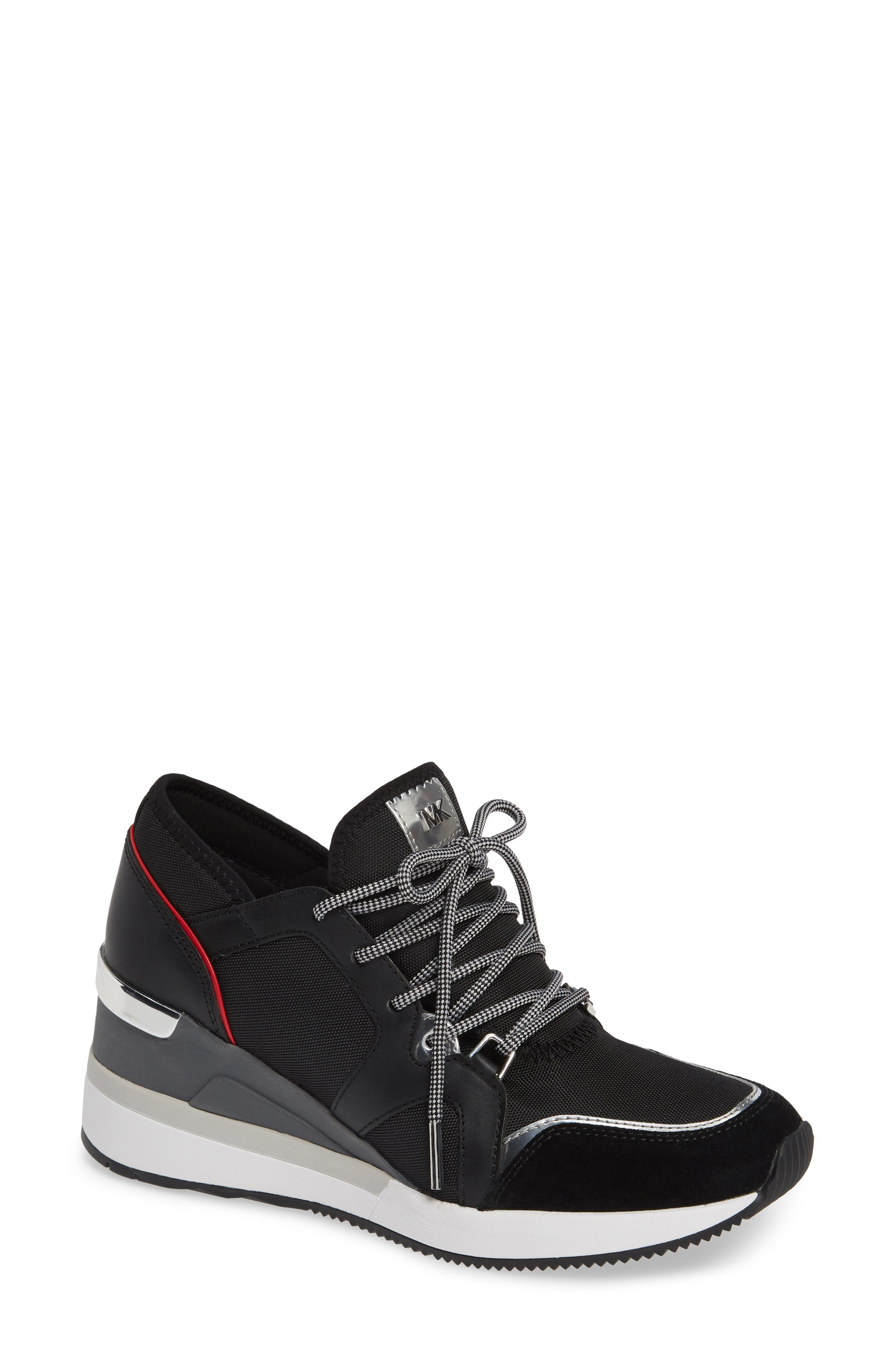 Scout Trainer Wedge Sneaker,                             Main thumbnail 1, color,                             001