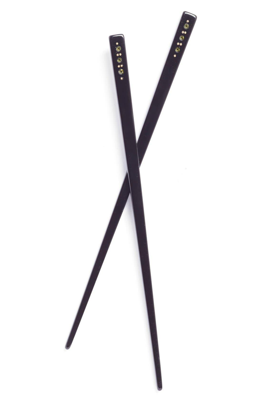 L. Erickson Swarovski Crystal Hair Sticks,                             Main thumbnail 3, color,