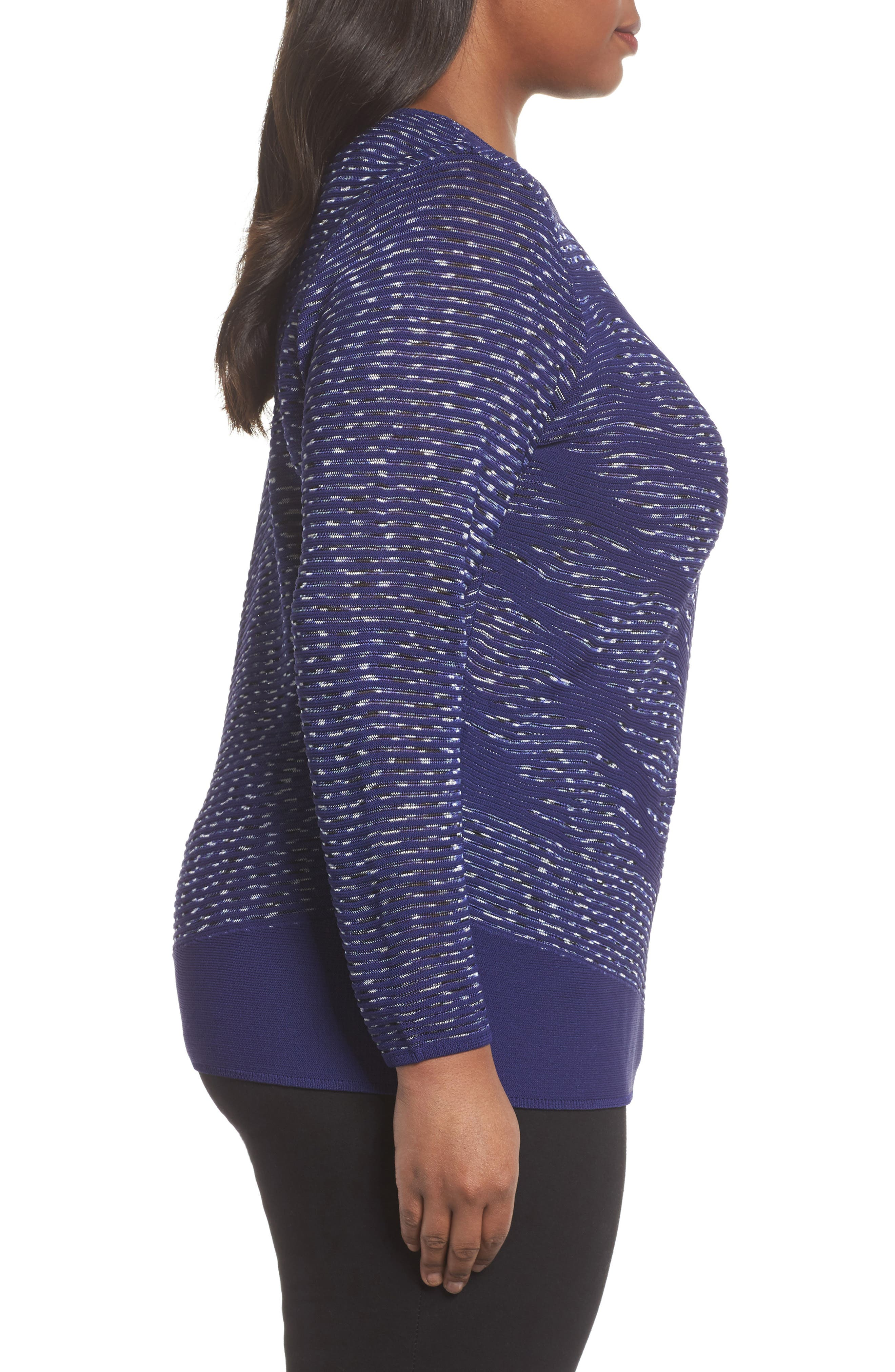 This Is Living Knit Top,                             Alternate thumbnail 3, color,                             ELECTRIC BLUE