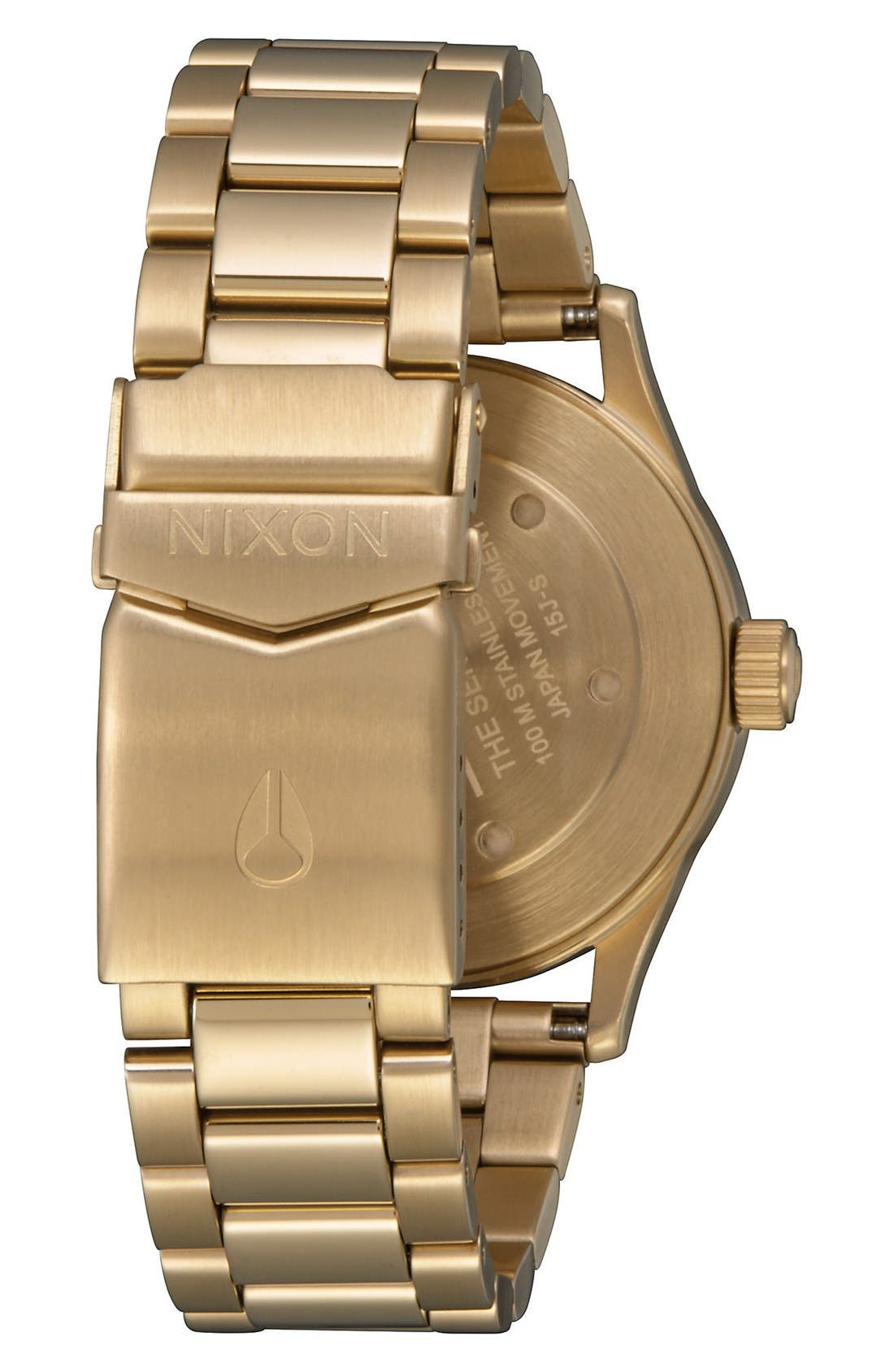 'Sentry' Bracelet Watch, 38mm,                             Alternate thumbnail 2, color,                             GOLD/ PINK