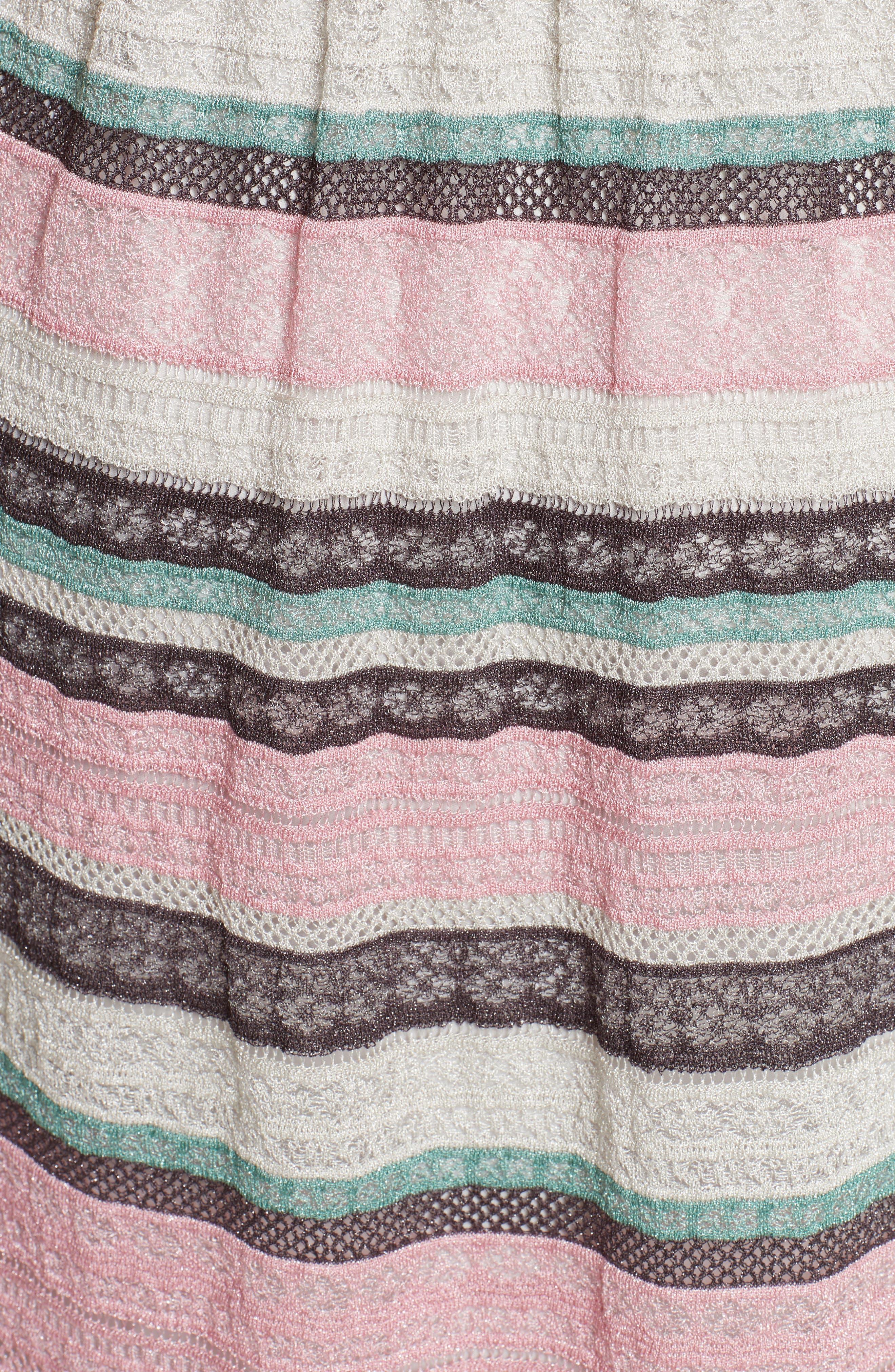 Lace Stripe Maxi Dress,                             Alternate thumbnail 5, color,                             664