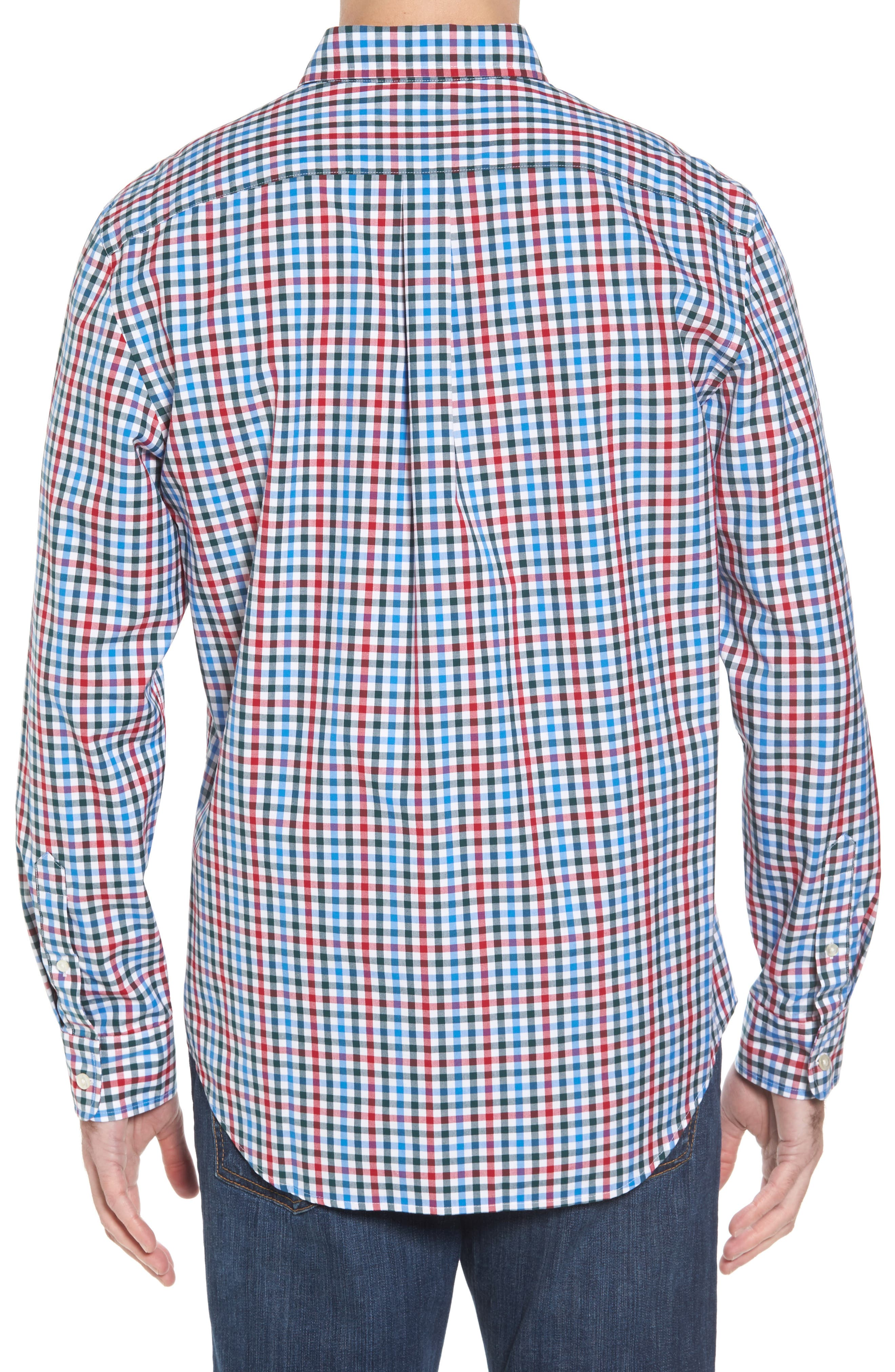Higgins Beach Classic Fit Gingham Sport Shirt,                             Alternate thumbnail 2, color,                             620