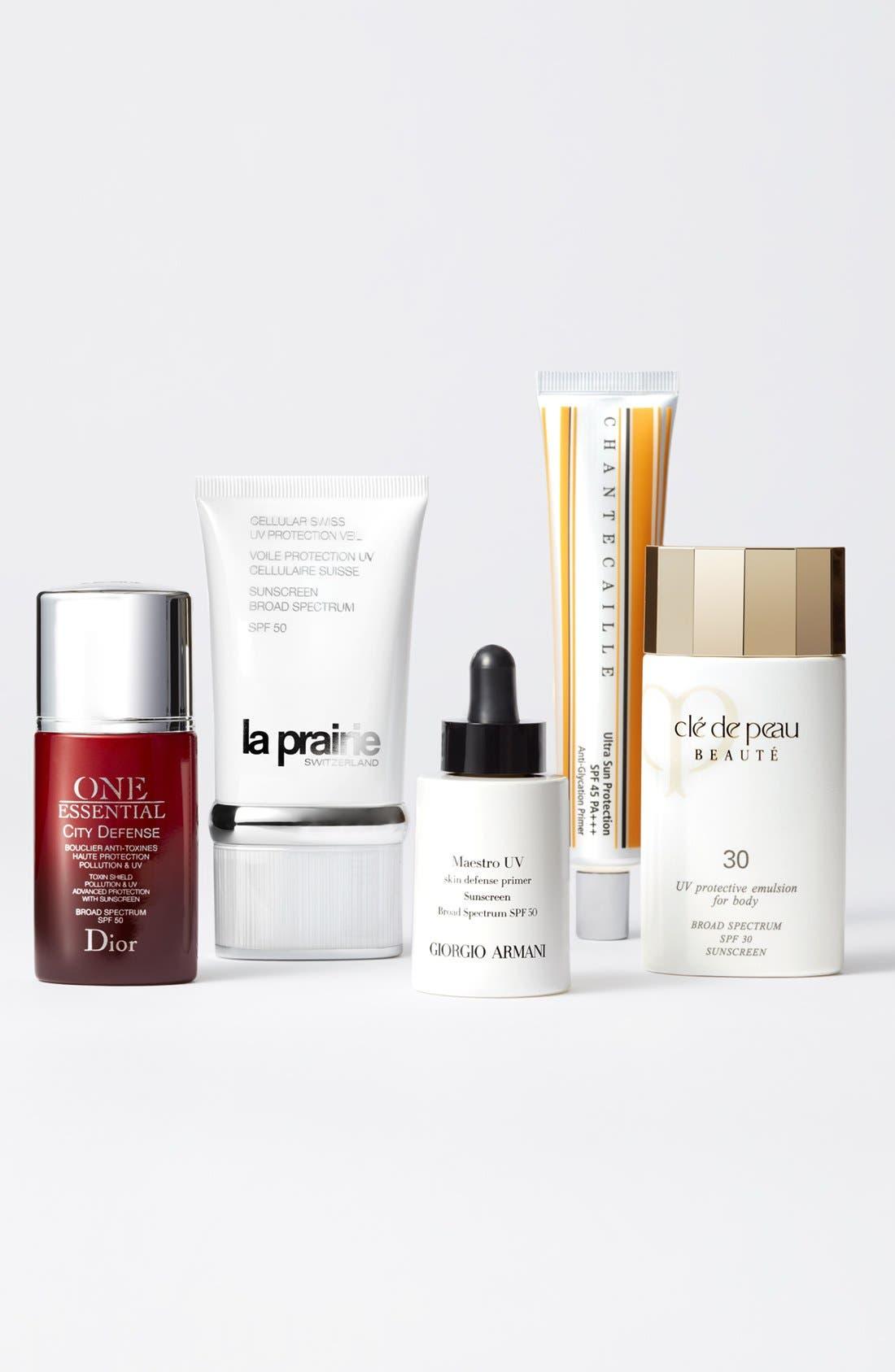 GIORGIO ARMANI,                             Maestro UV Skin Defense Primer Sunscreen SPF 50,                             Alternate thumbnail 4, color,                             NO COLOR