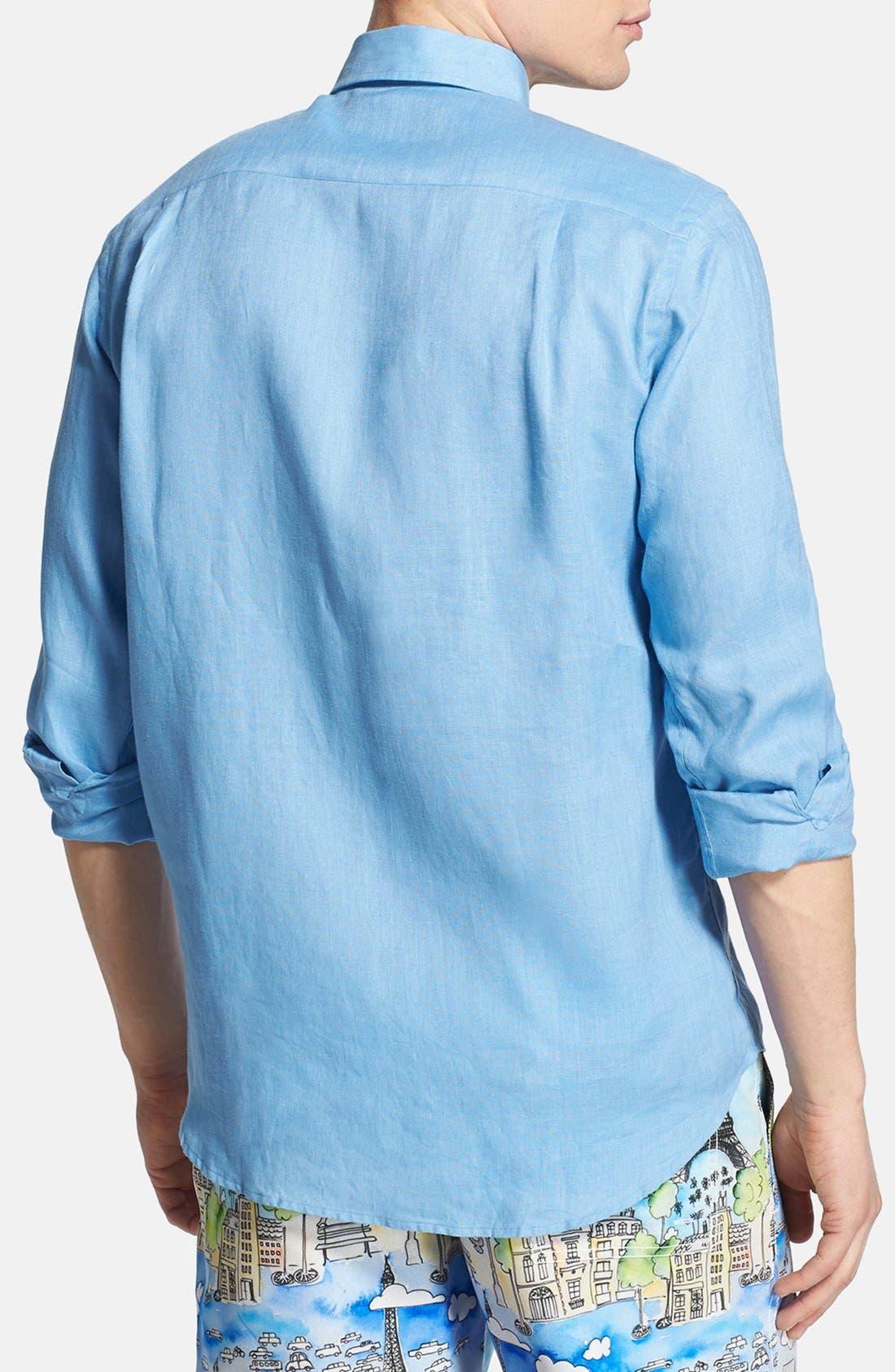 'Caroubier' Linen Shirt,                             Alternate thumbnail 26, color,