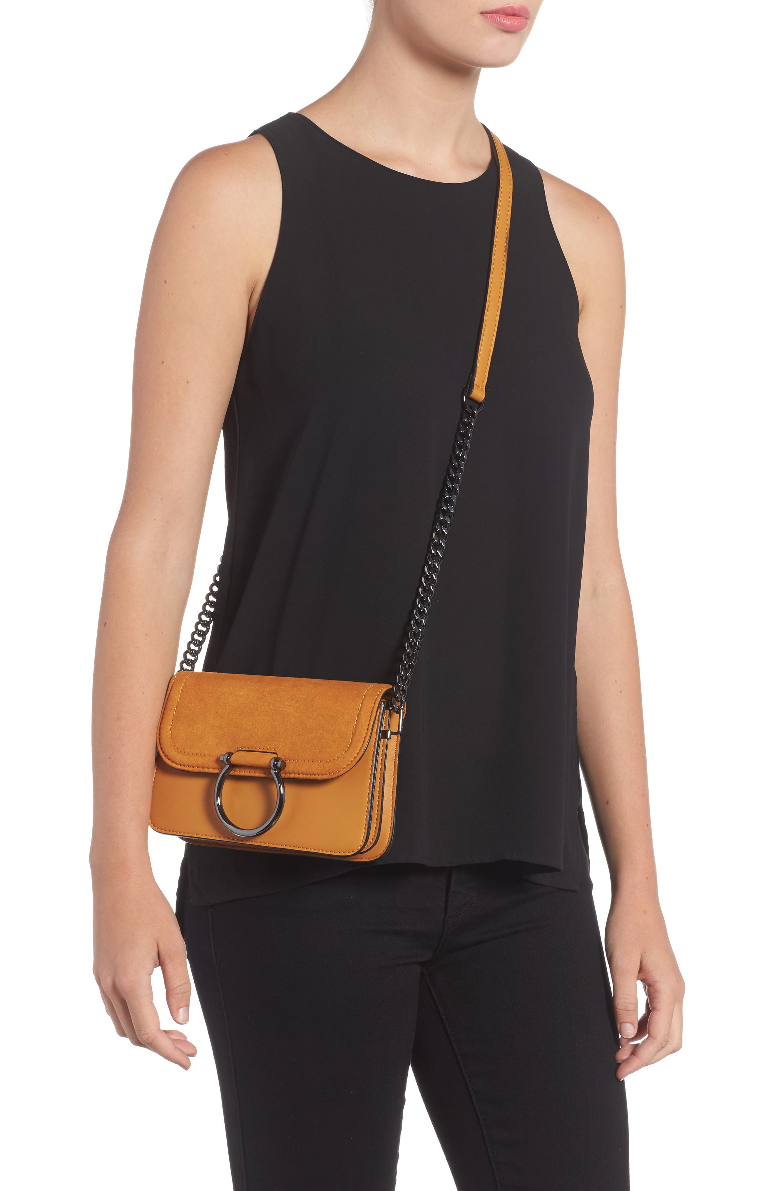 Remy Trophy Faux Leather Crossbody Bag,                             Alternate thumbnail 4, color,