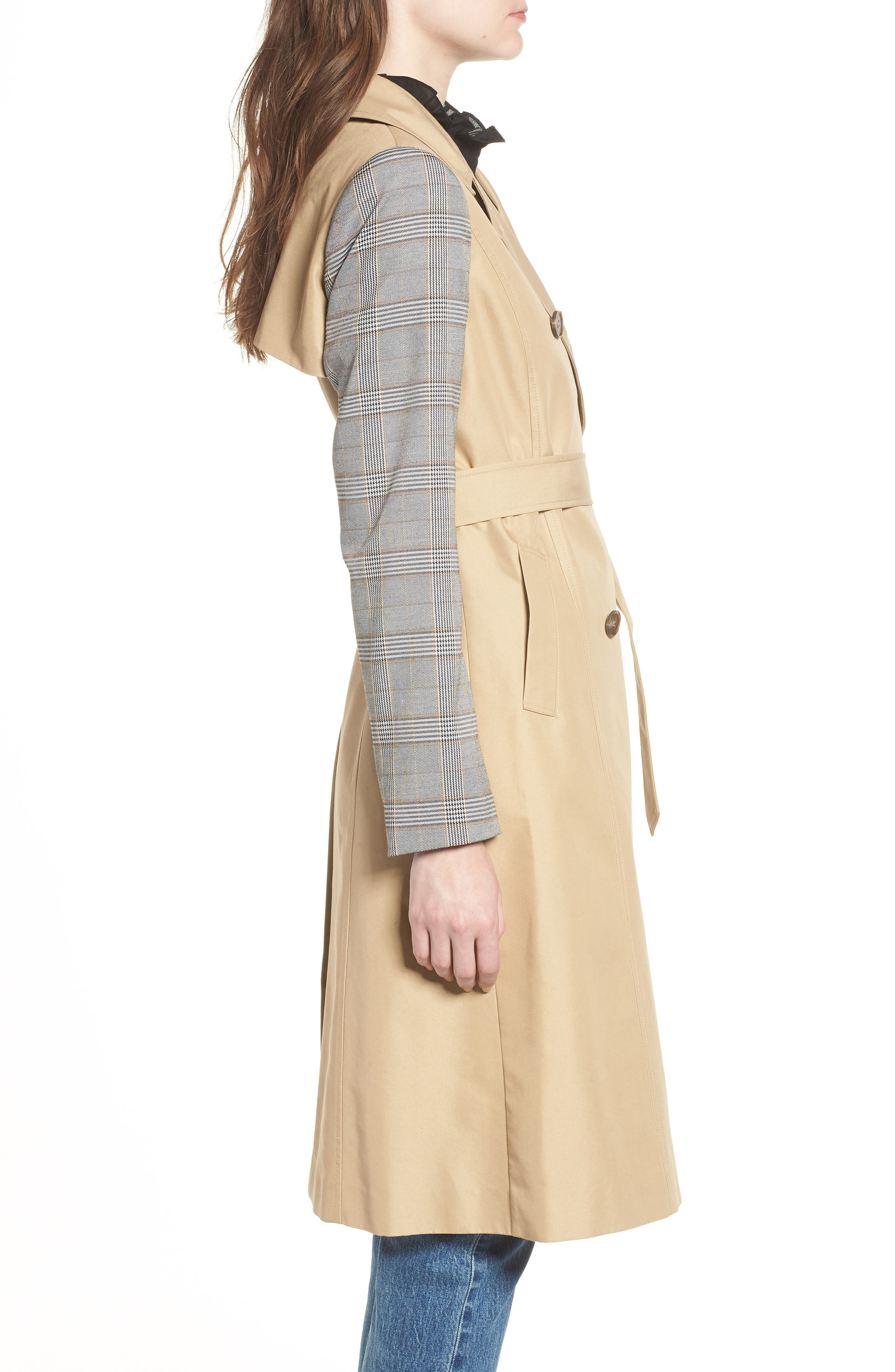 Belted Trench,                             Alternate thumbnail 3, color,                             200