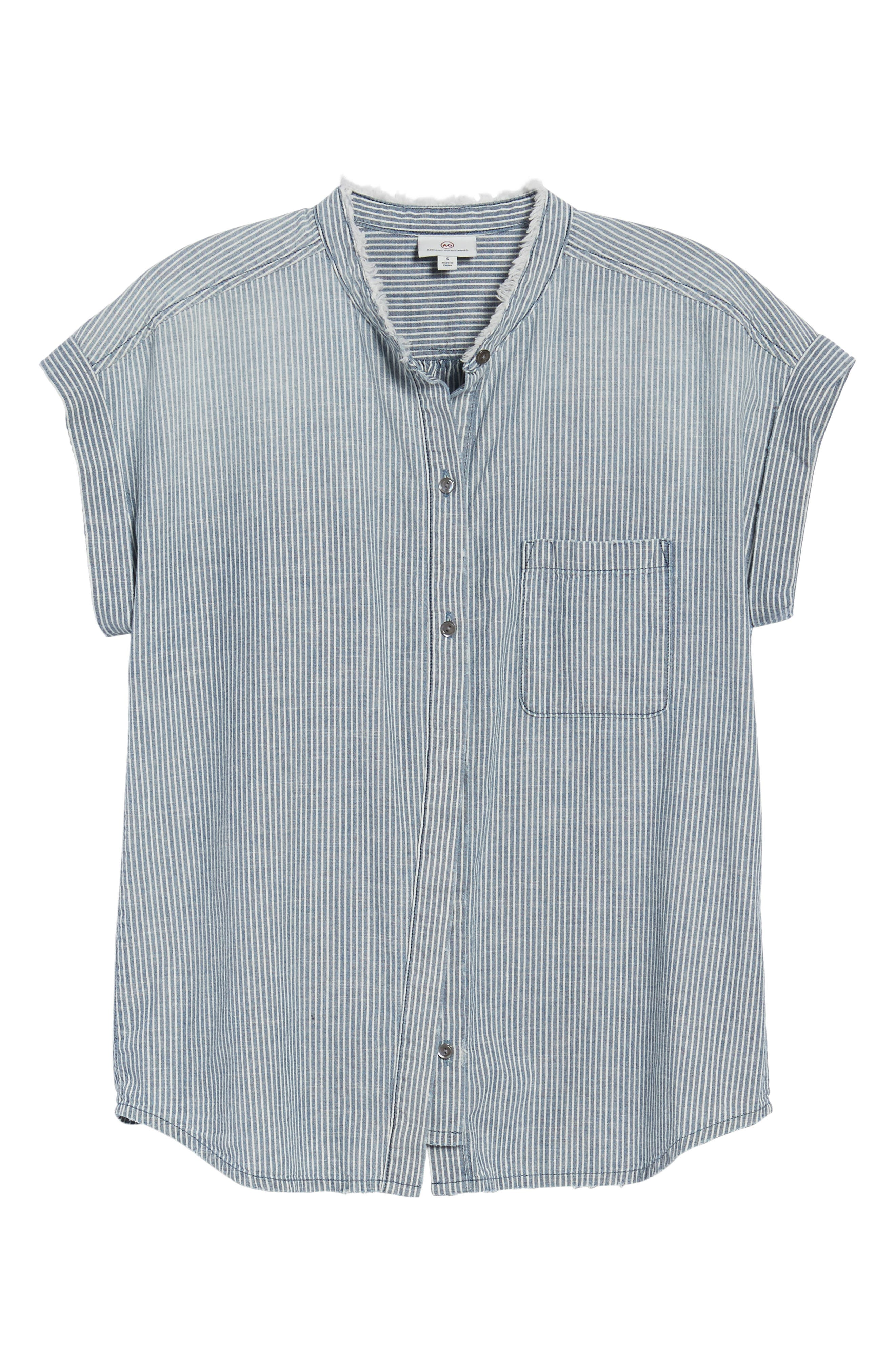 The Liza Engineer Stripe Shirt,                             Alternate thumbnail 6, color,                             LOFT