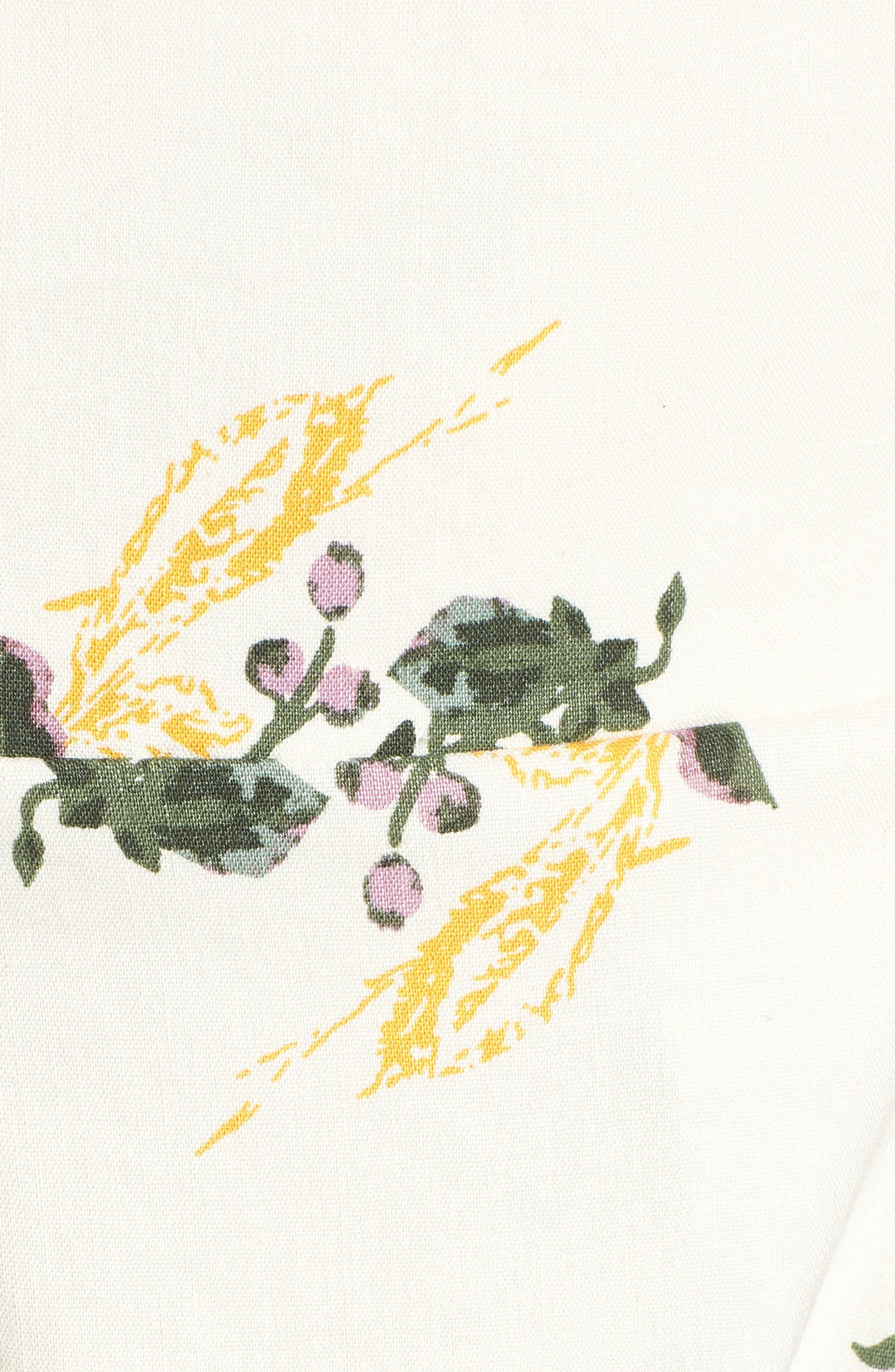 Floral Print Midi Dress,                             Alternate thumbnail 6, color,                             900