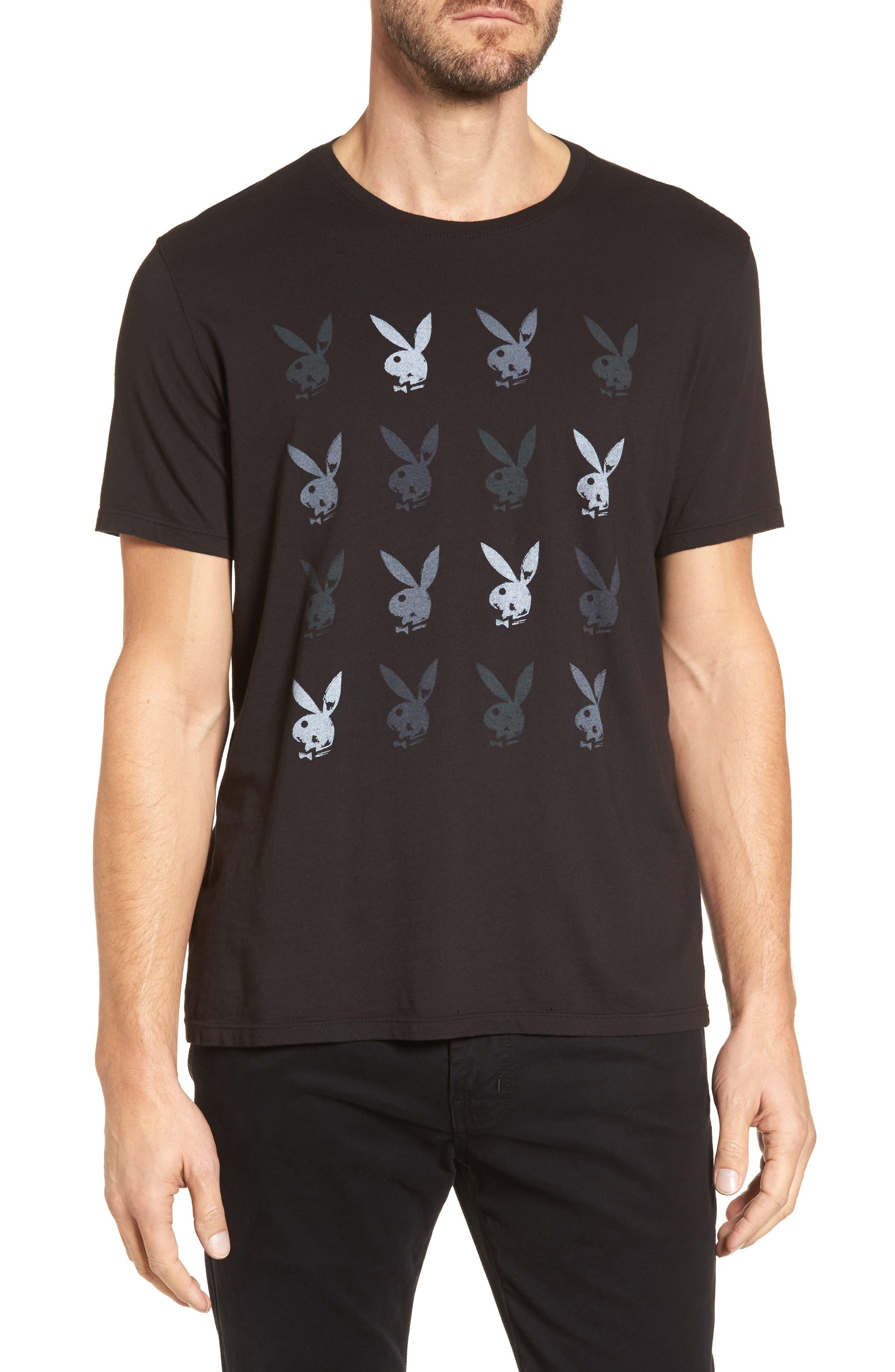 Playboy Rows Graphic T-Shirt,                             Main thumbnail 1, color,                             001